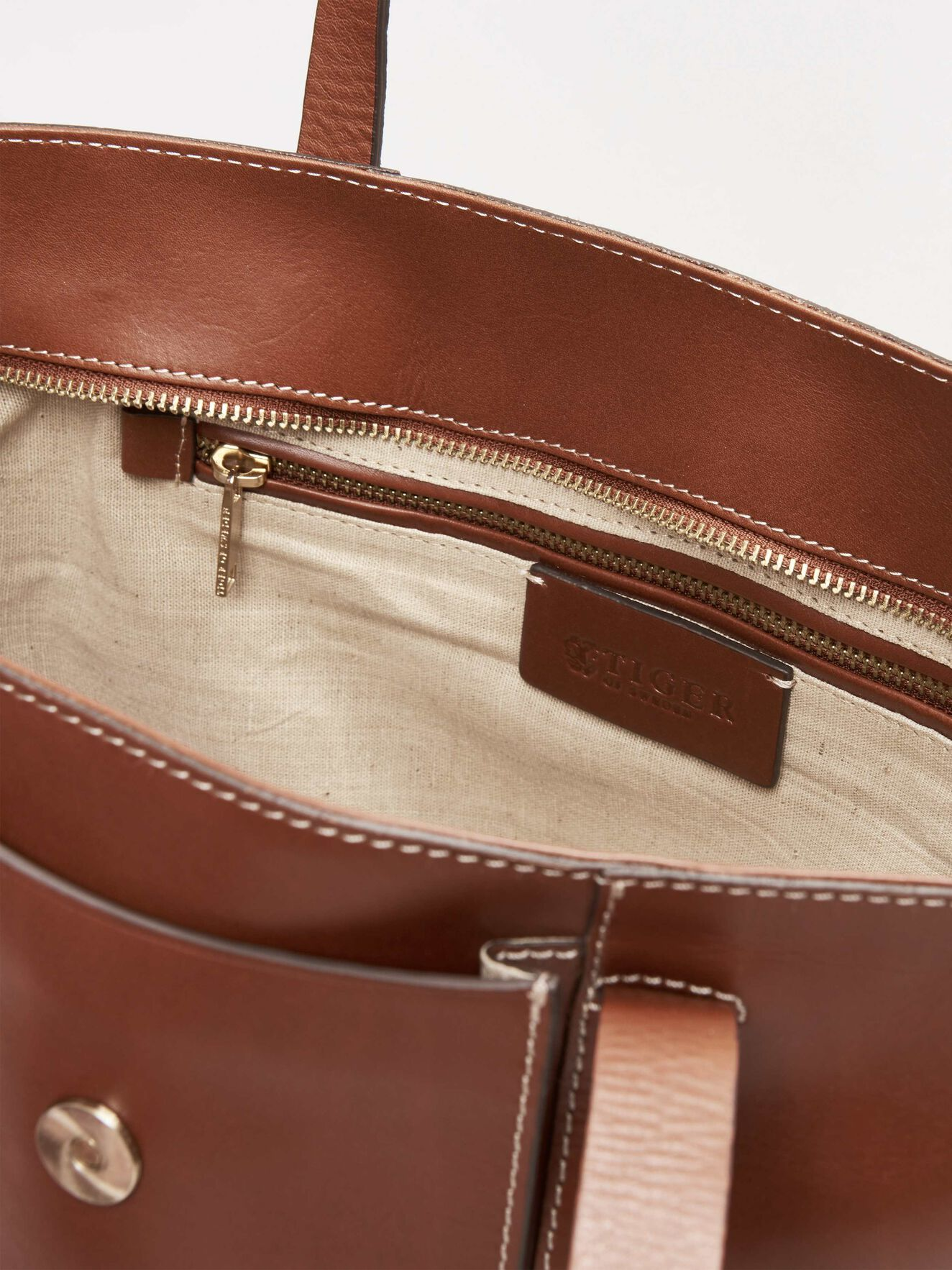 Louise Tote Bag in Light Brown from Tiger of Sweden