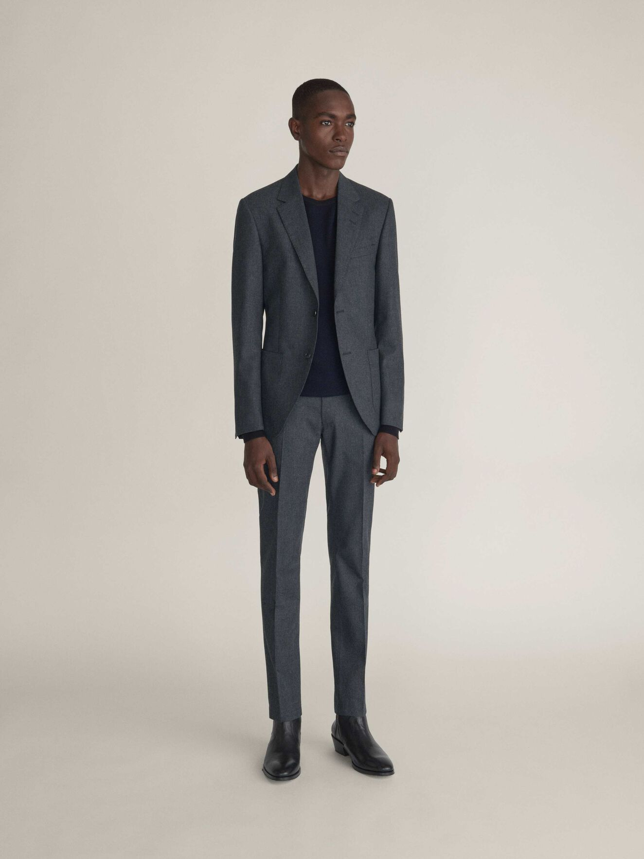 Jamot Blazer in Med Grey Mel from Tiger of Sweden