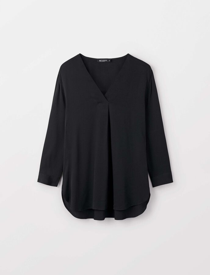 Mere blouse in Night Black from Tiger of Sweden