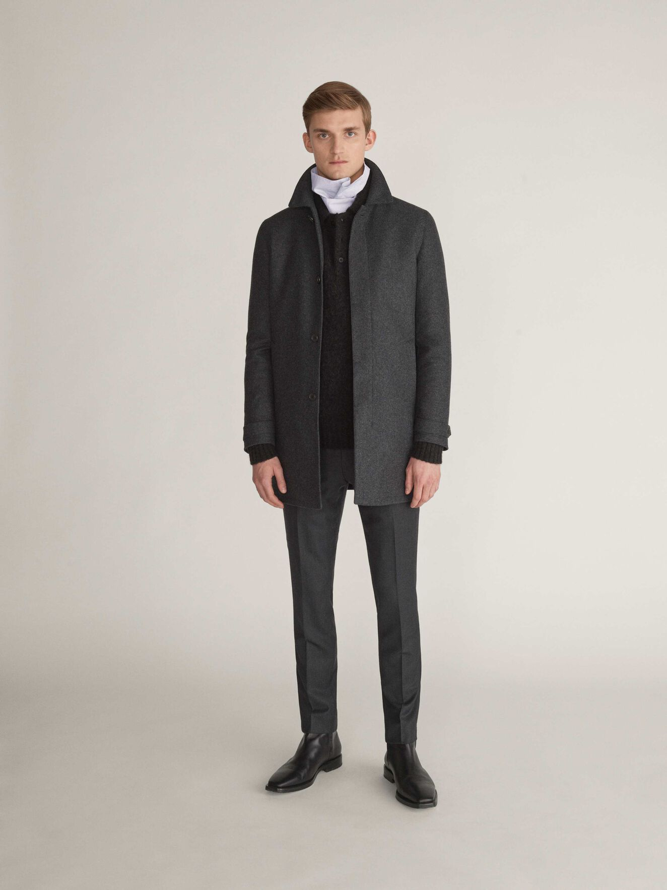 Caled Coat in Dark grey Mel from Tiger of Sweden