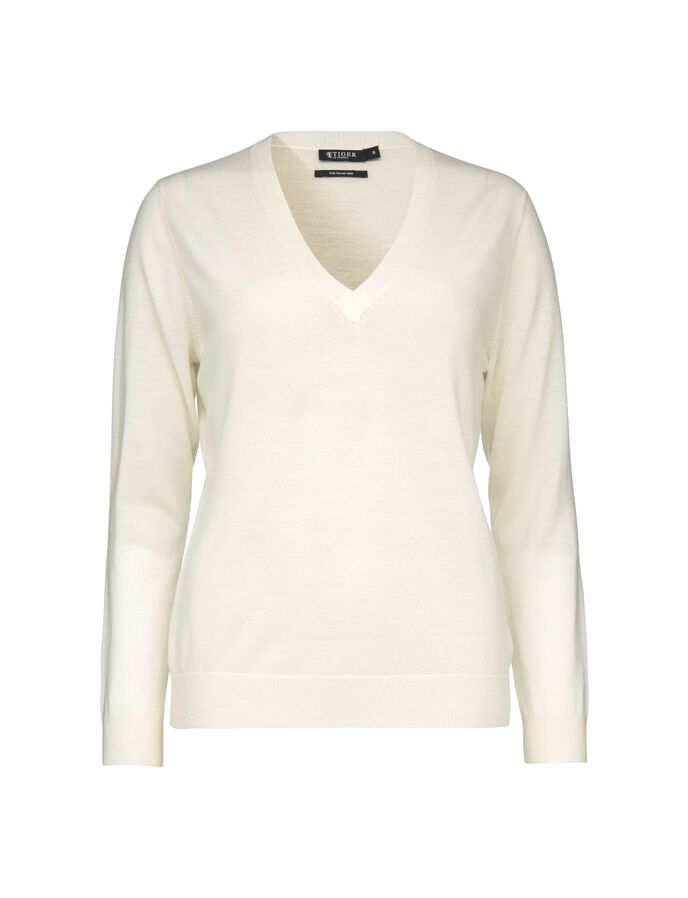 DULCIE PULLOVER in Star White from Tiger of Sweden