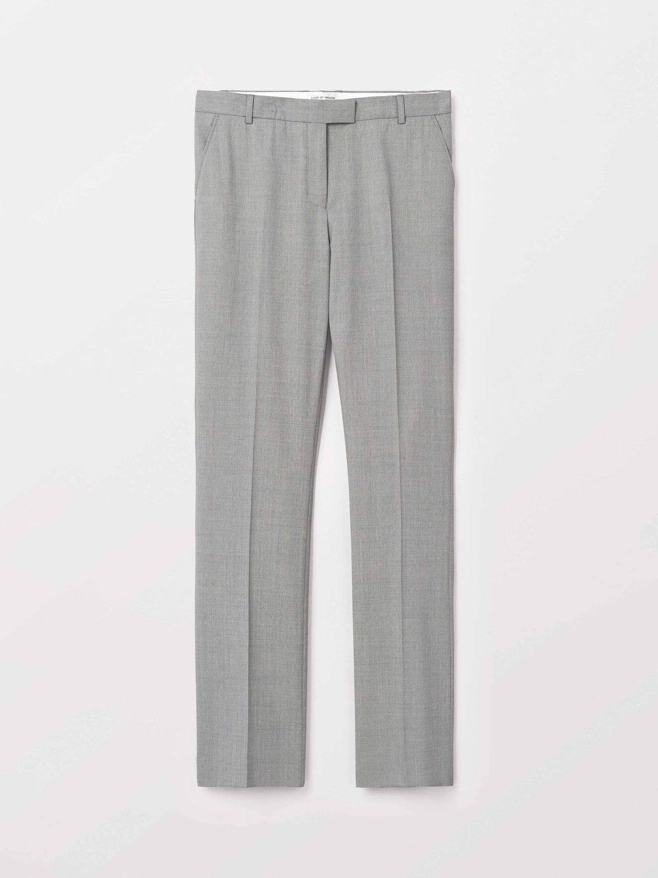 Hollen Trousers in Light grey melange from Tiger of Sweden