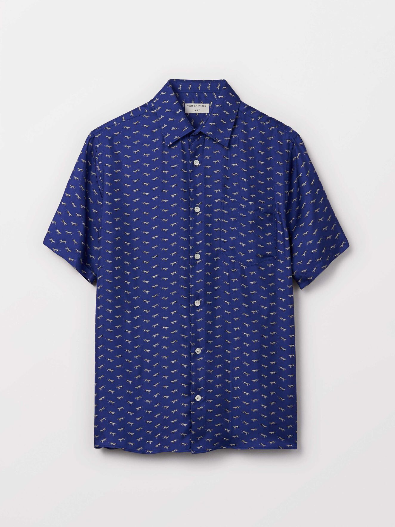 Fonzo Shirt in Deep Ocean Blue from Tiger of Sweden