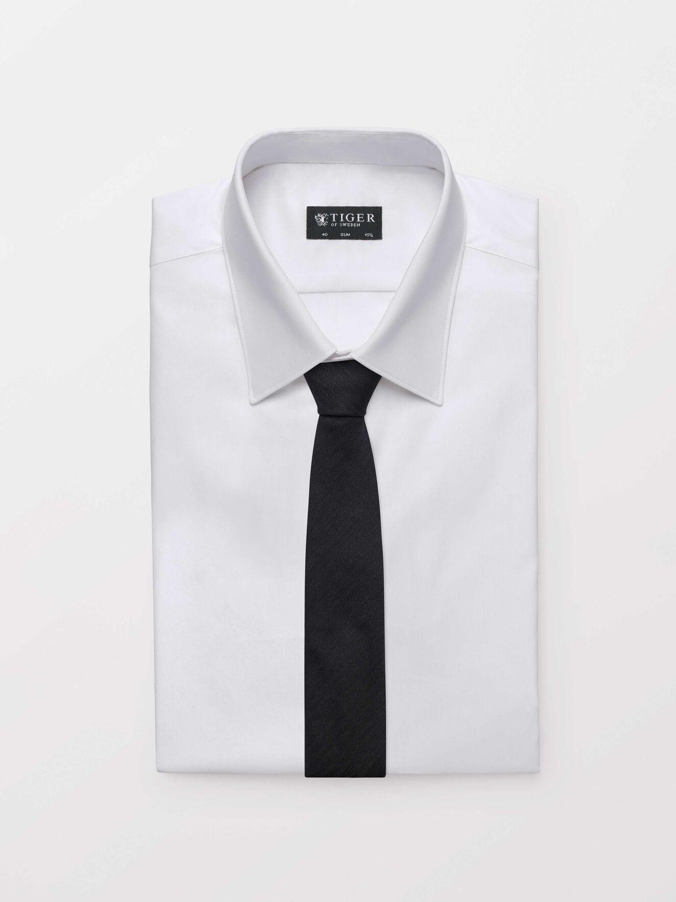 Triss Tie in Dark grey Mel from Tiger of Sweden