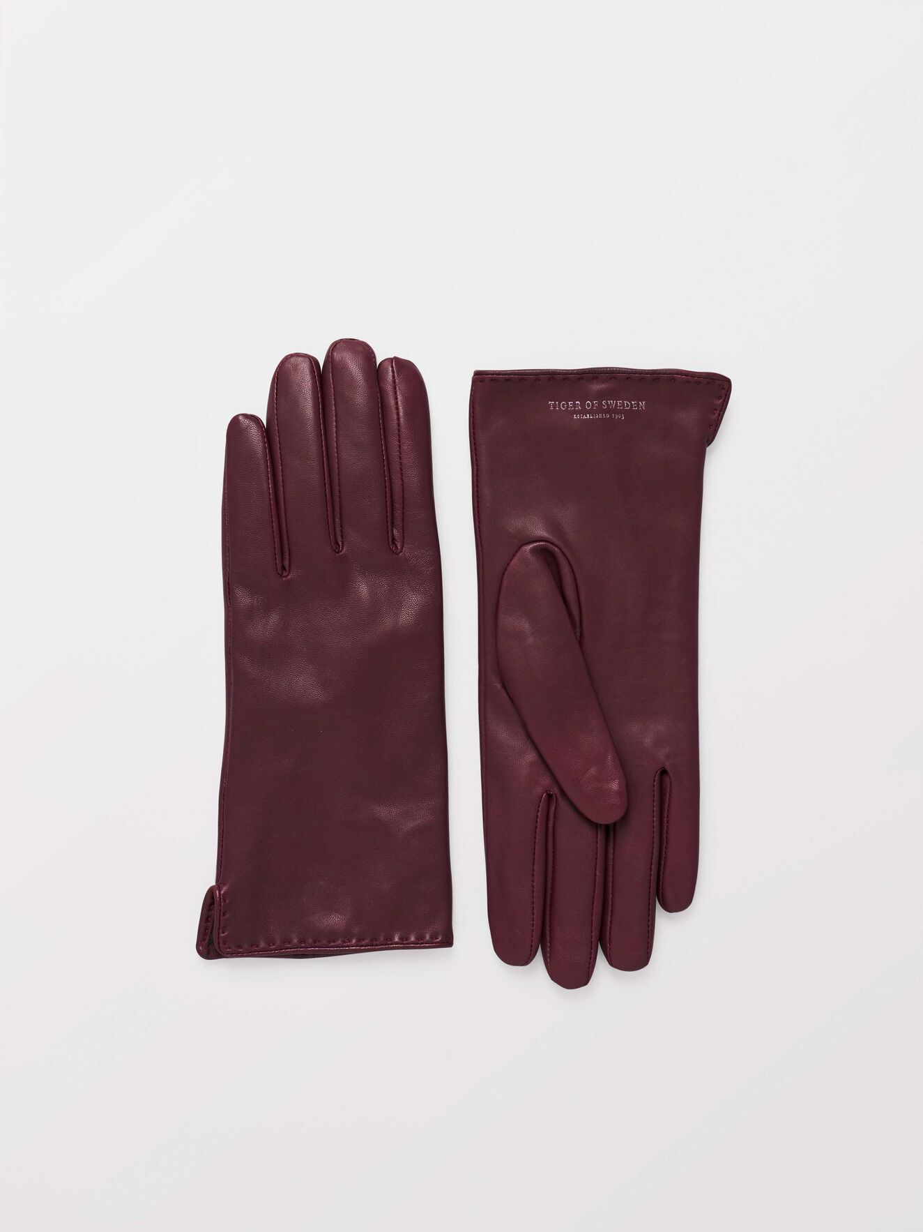 Lian Gloves in Dark red from Tiger of Sweden
