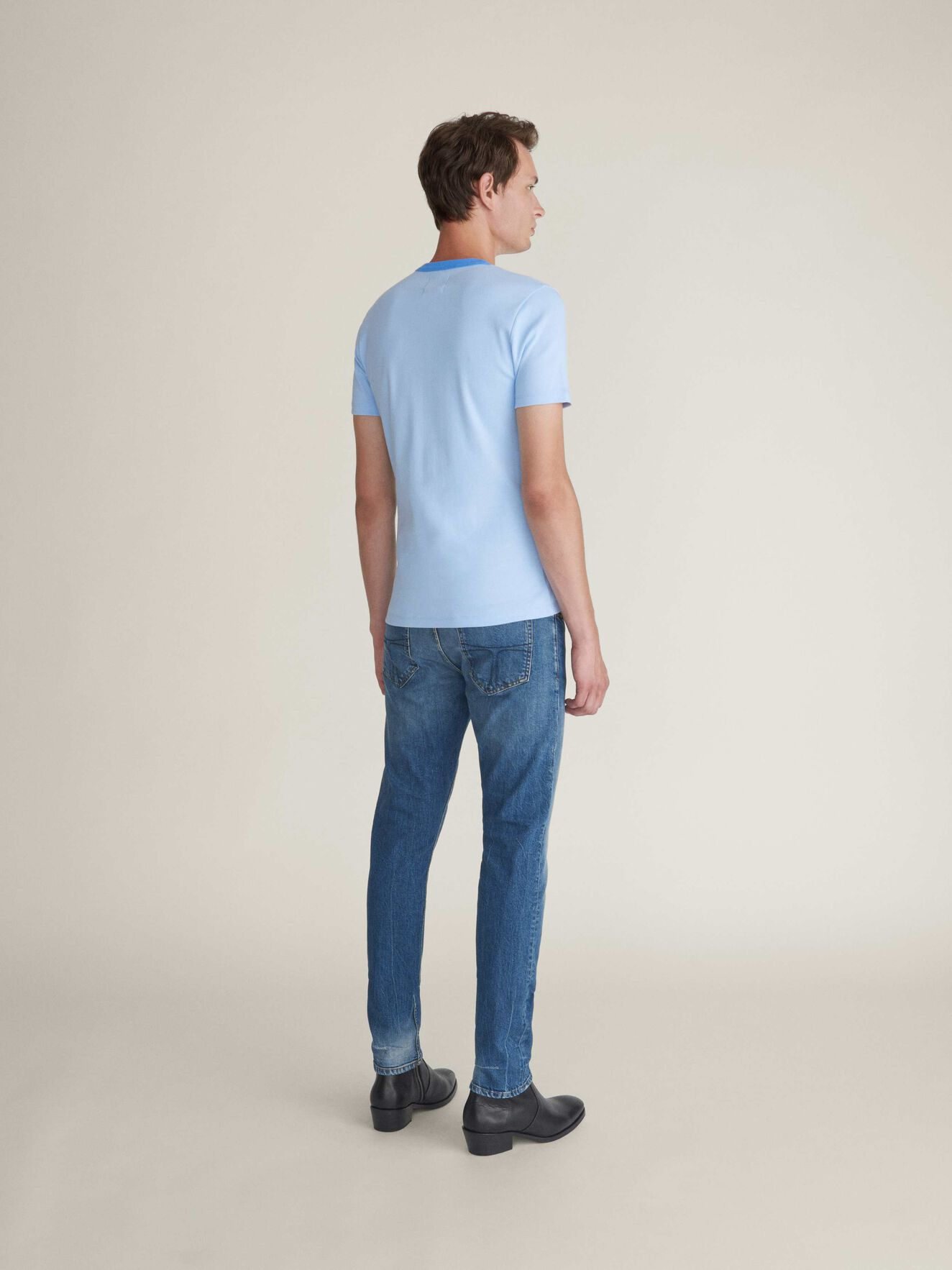 Essek T-Shirt in Chambray Blue from Tiger of Sweden