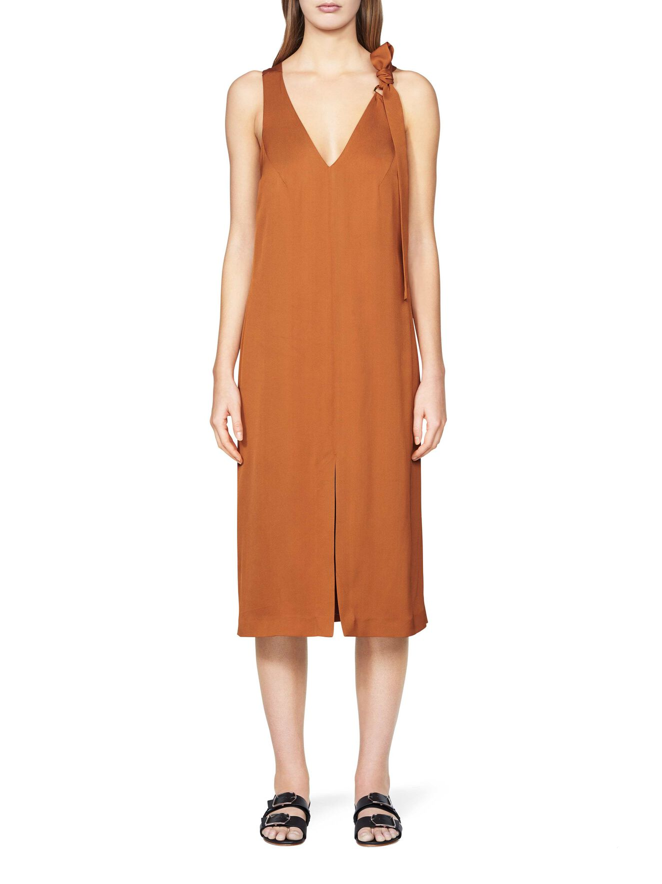 Ziva dress  in Leather Brown from Tiger of Sweden