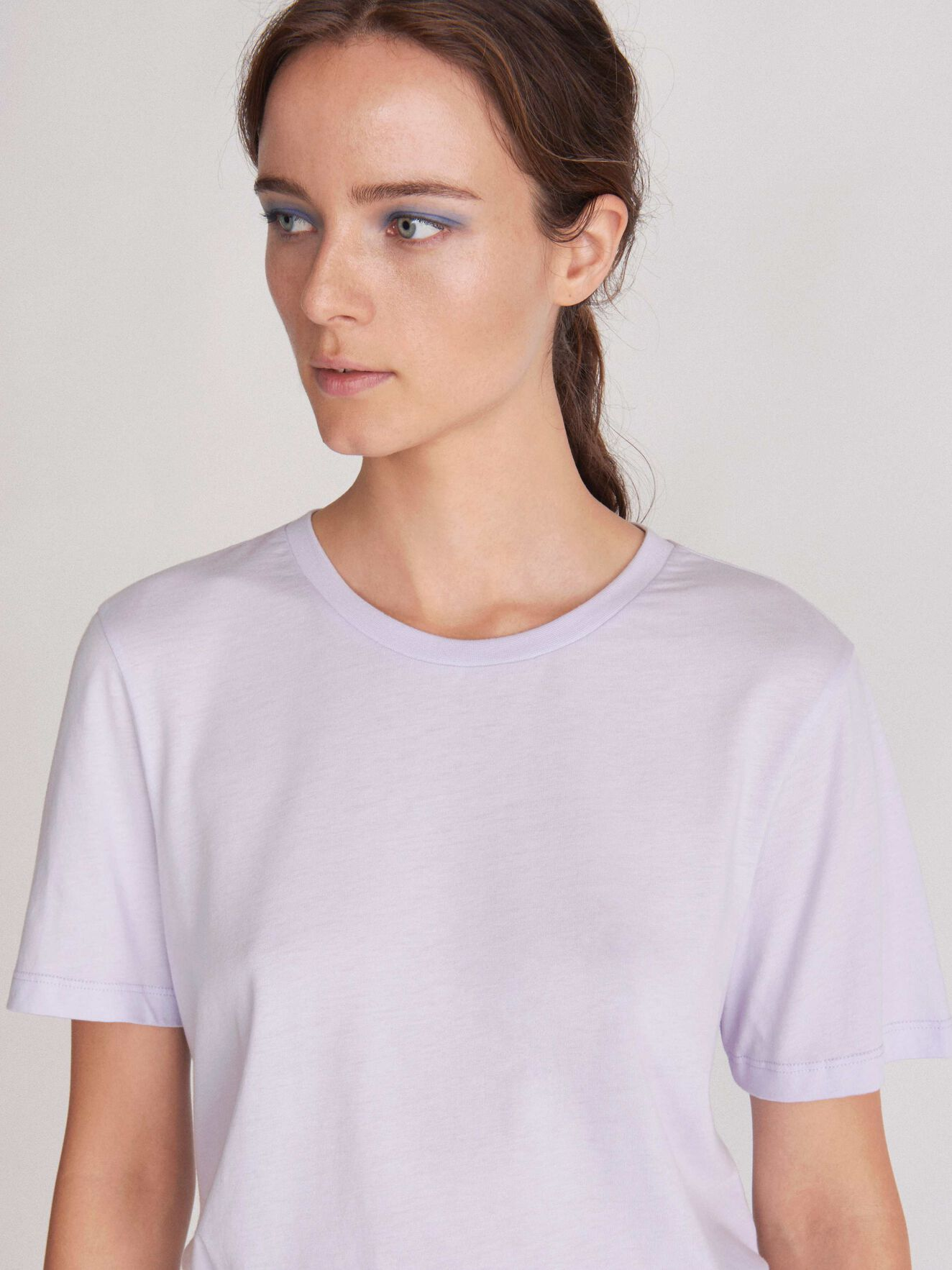Deira T-Shirt in Soft Lavender from Tiger of Sweden