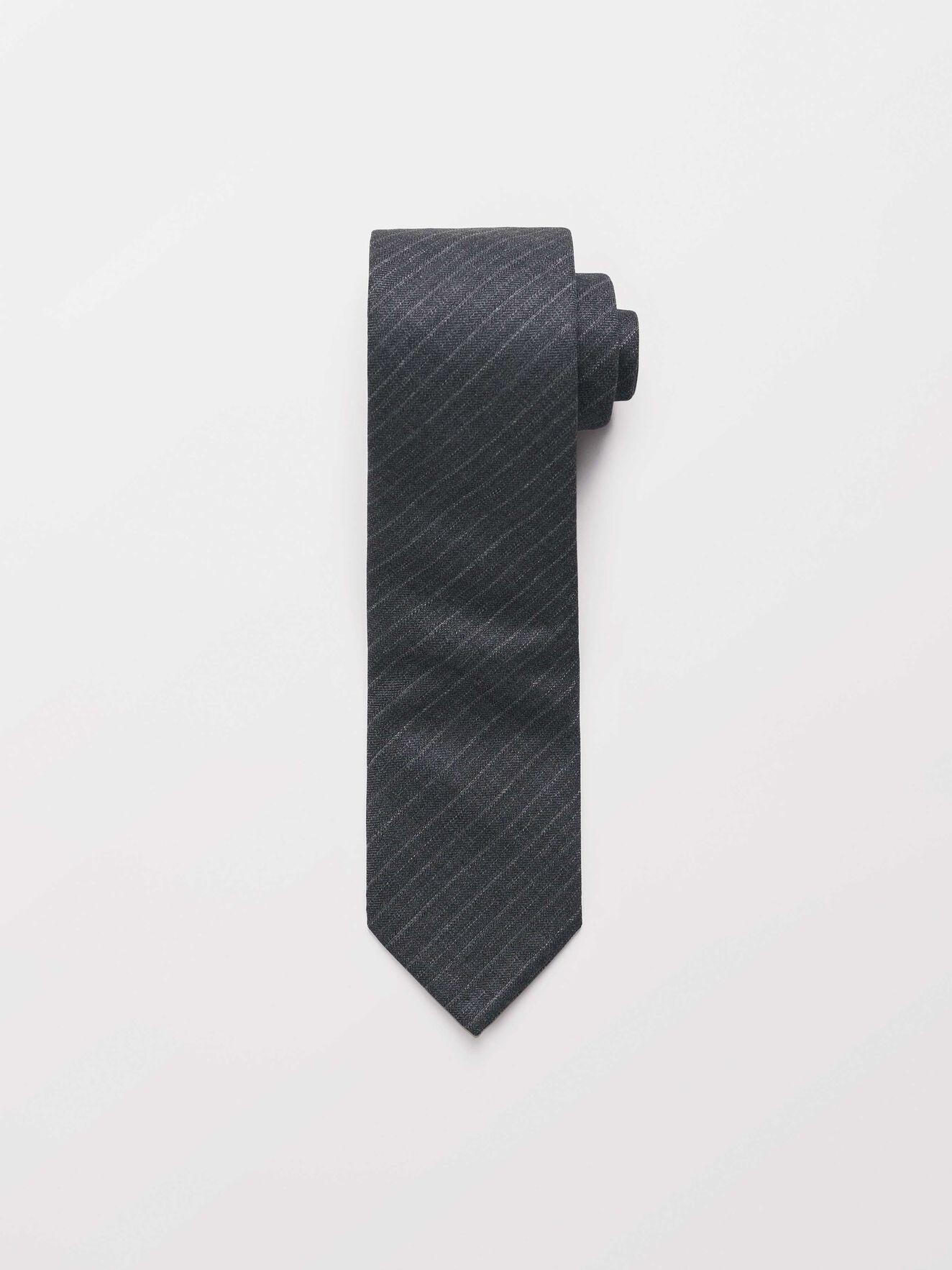 Tannant Tie in Dark grey Mel from Tiger of Sweden