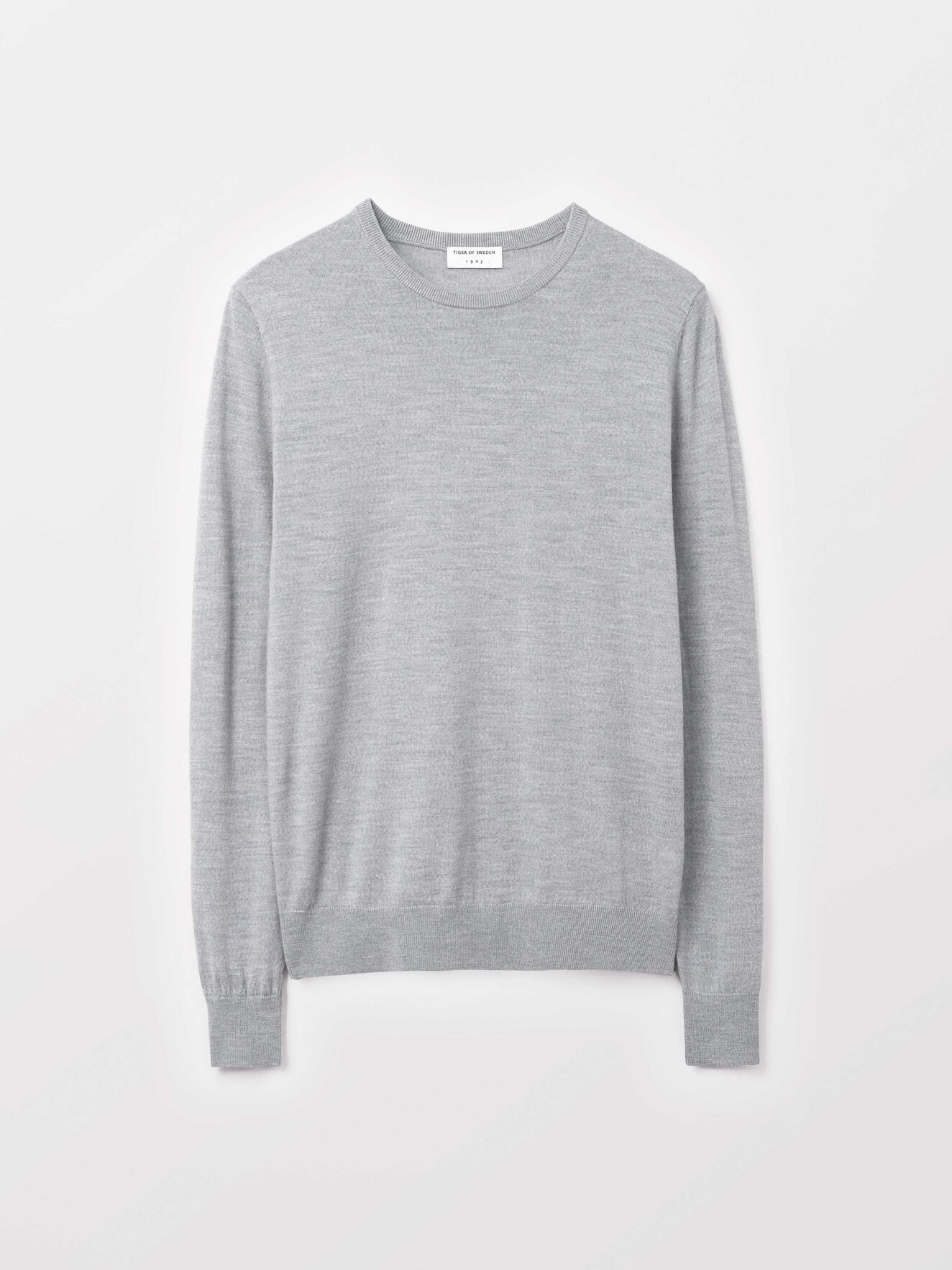 Nichols Pullover in Dark grey Mel from Tiger of Sweden