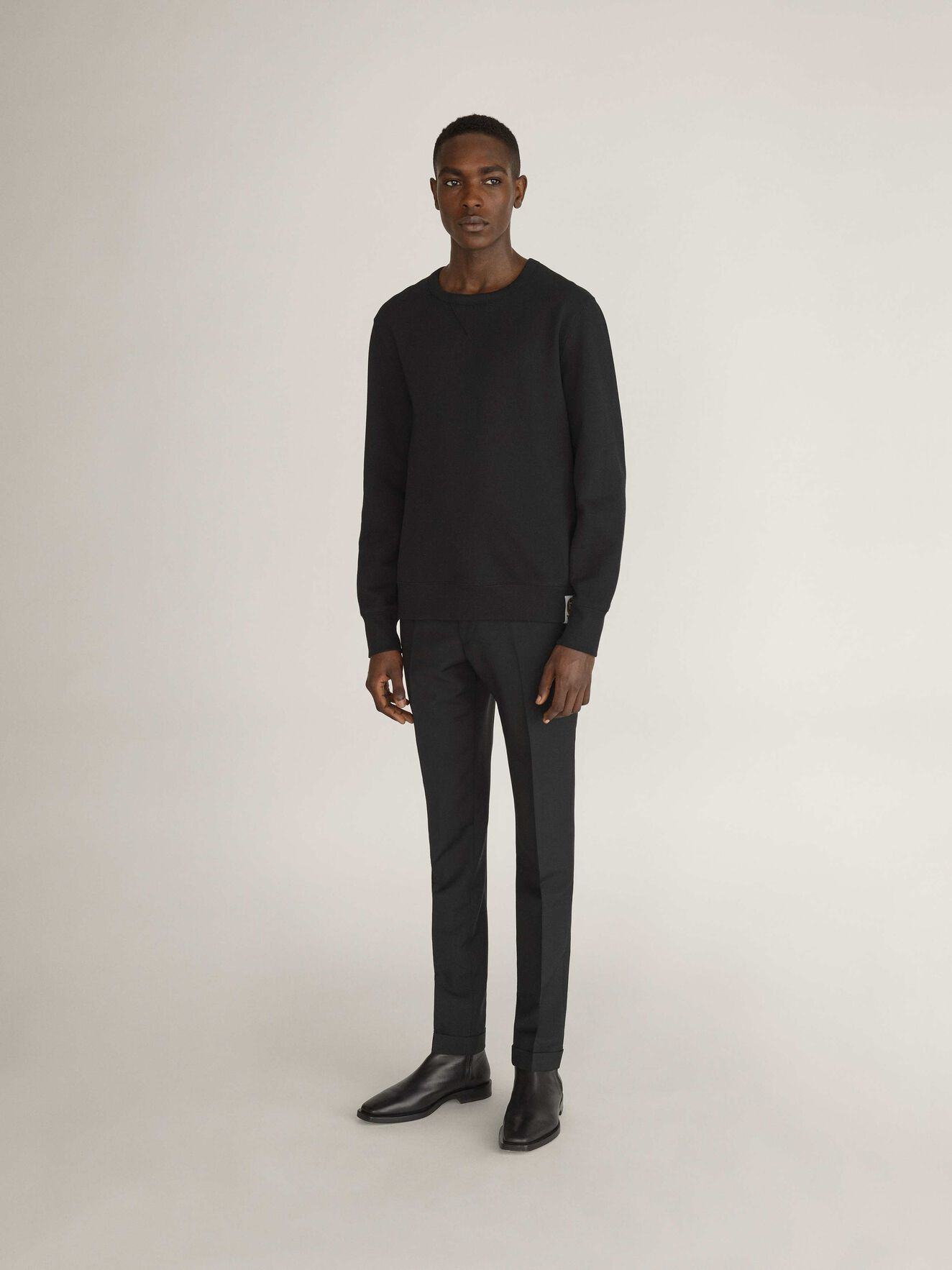 Dinos Sweatshirt in Black from Tiger of Sweden
