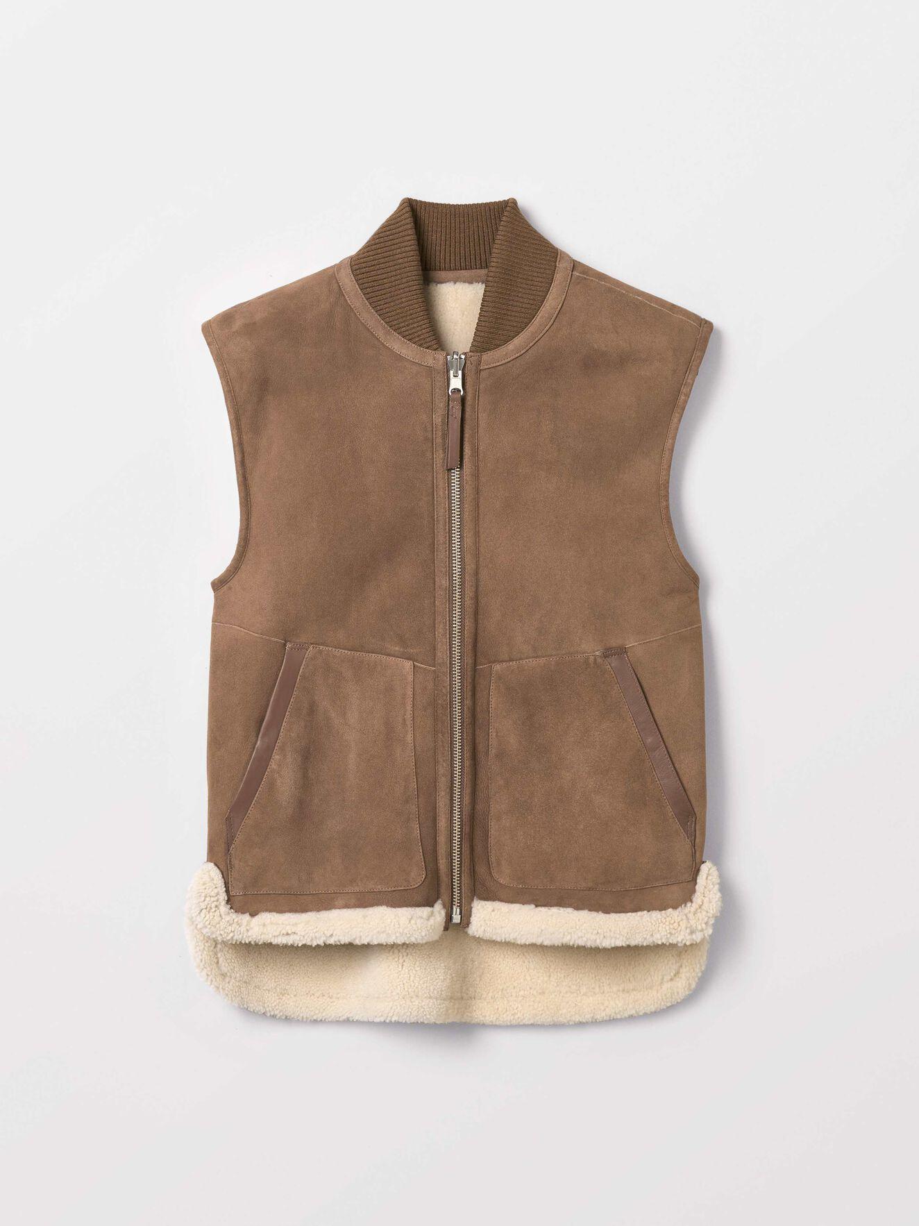 Lamir Vest in Dark Honey from Tiger of Sweden