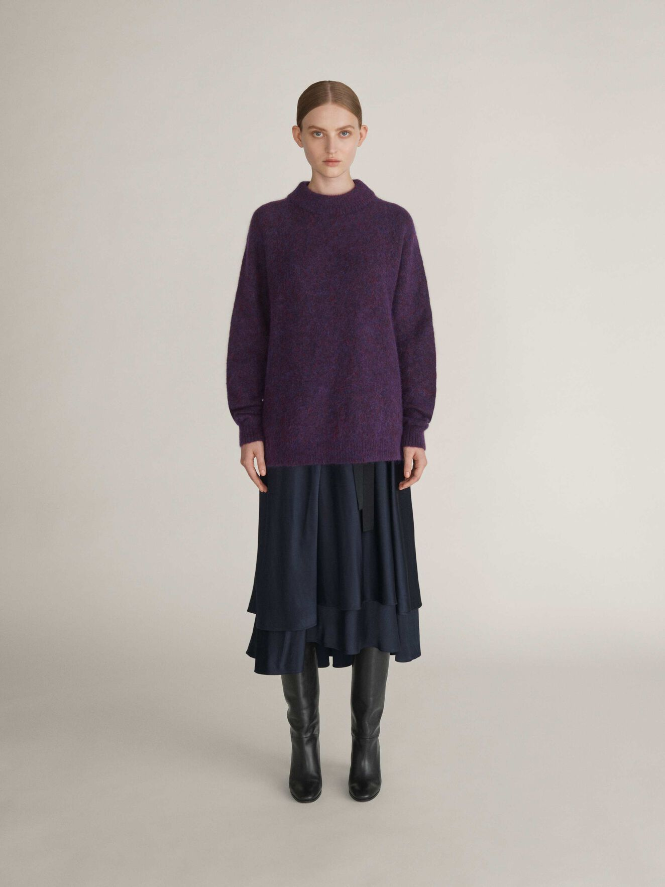 Gwyllen Pullover in Juicy Plum from Tiger of Sweden