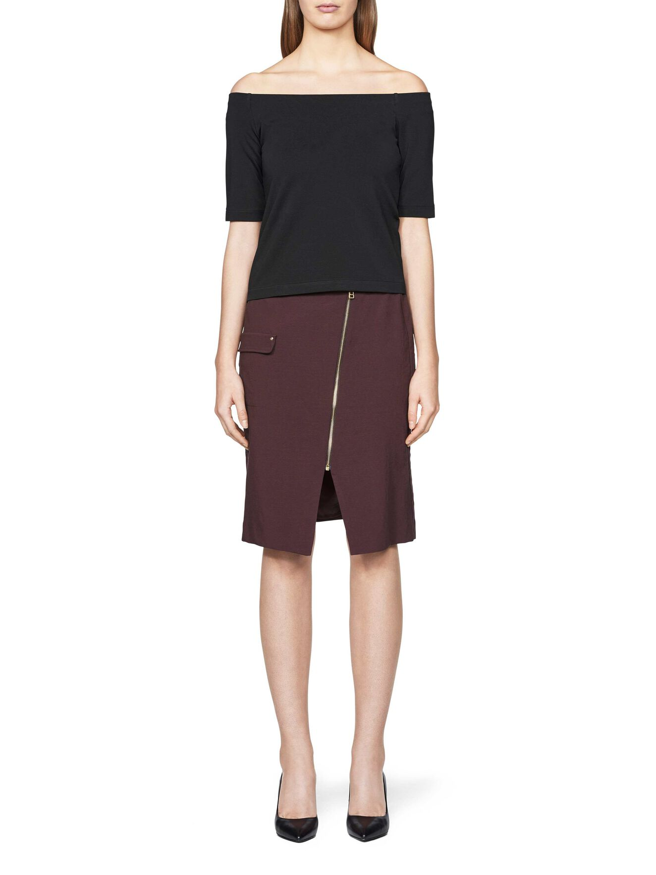 Randi skirt in Deep Aubergine from Tiger of Sweden