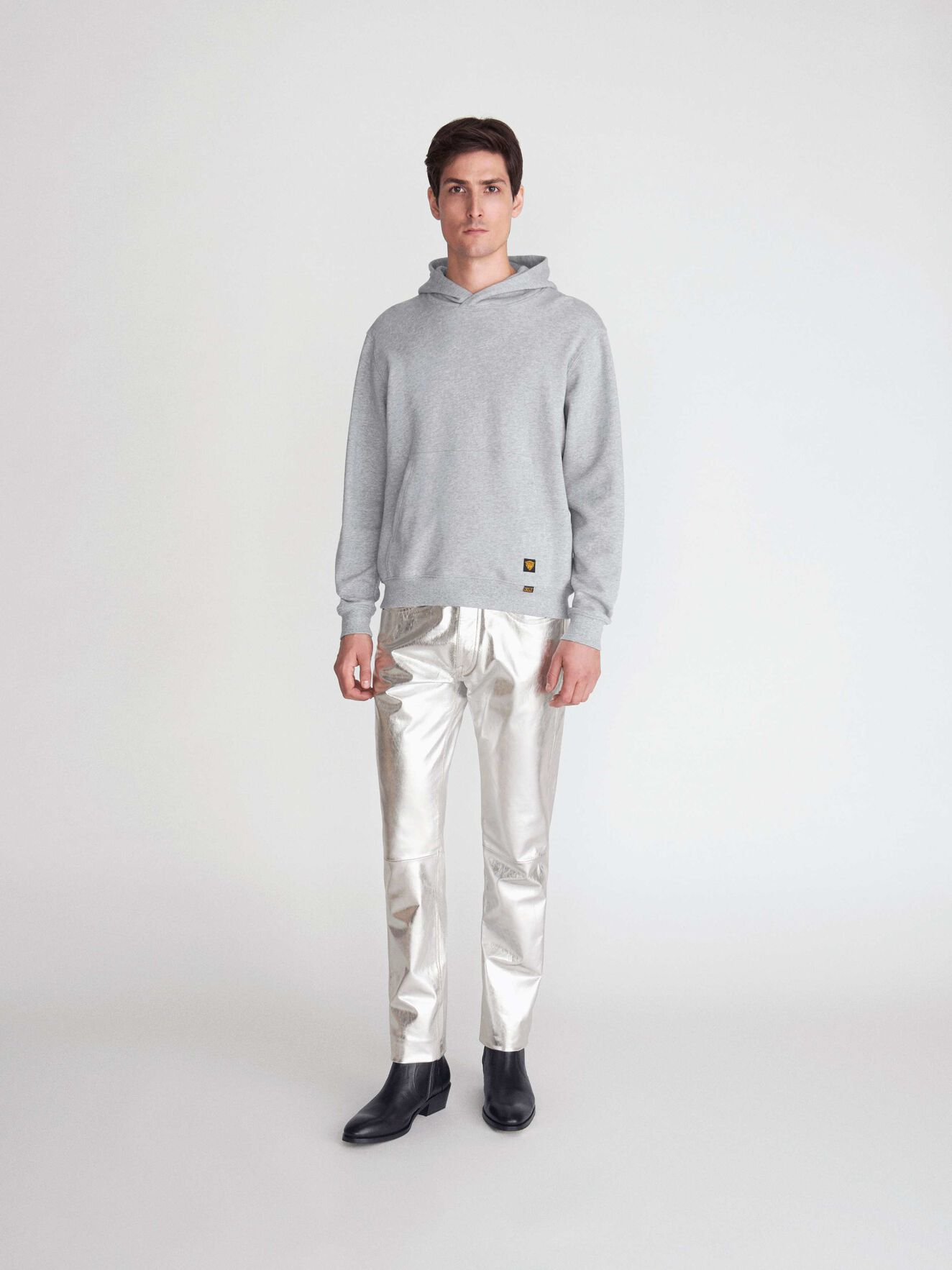 Eliaz Kapuzensweatshirt in Grey melange from Tiger of Sweden