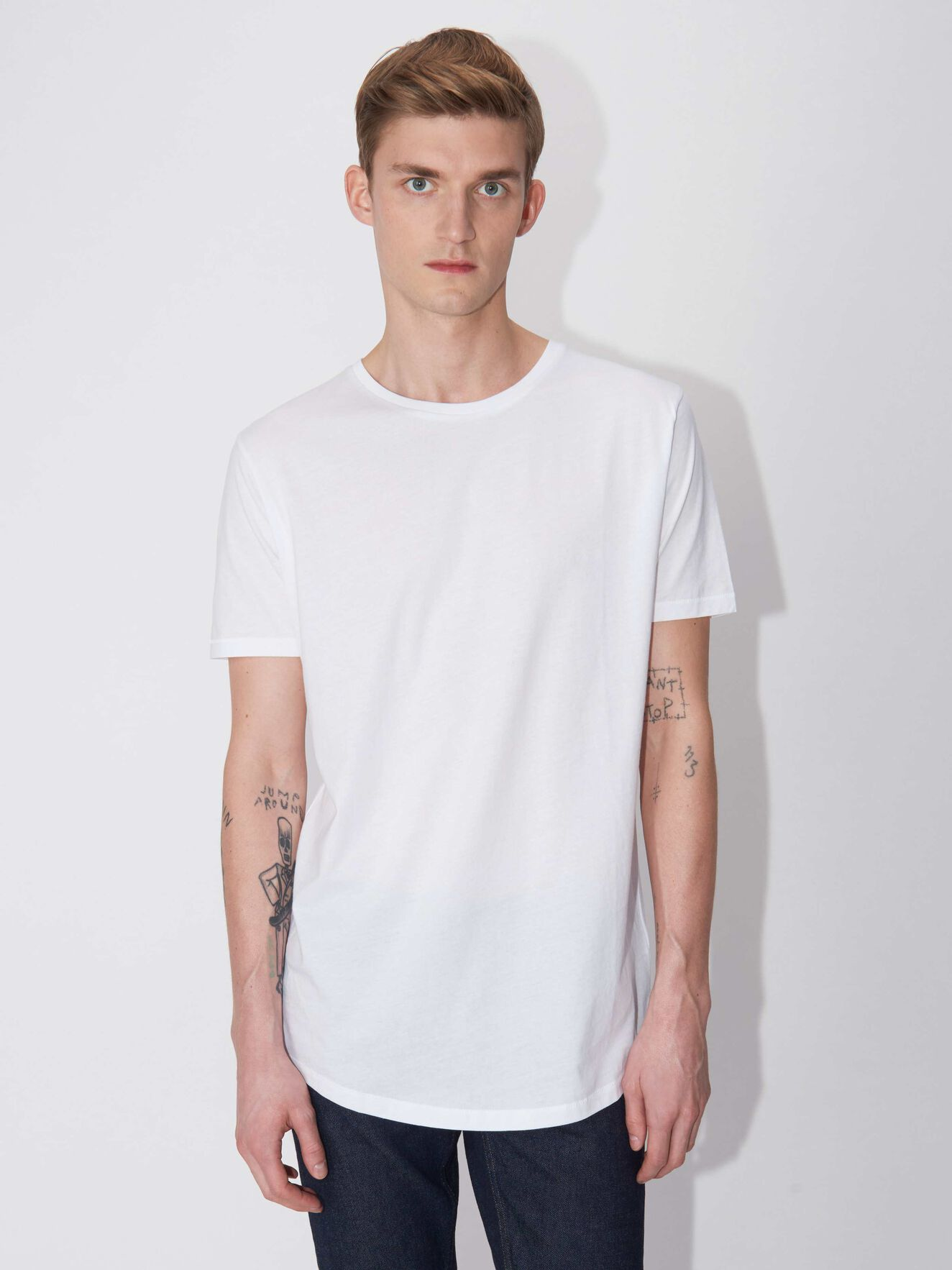 Corey Kurzarm-T-Shirt in White from Tiger of Sweden