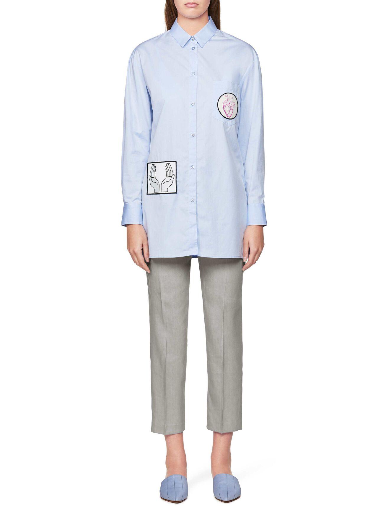 Allura Shirt in Art Deco Blue from Tiger of Sweden