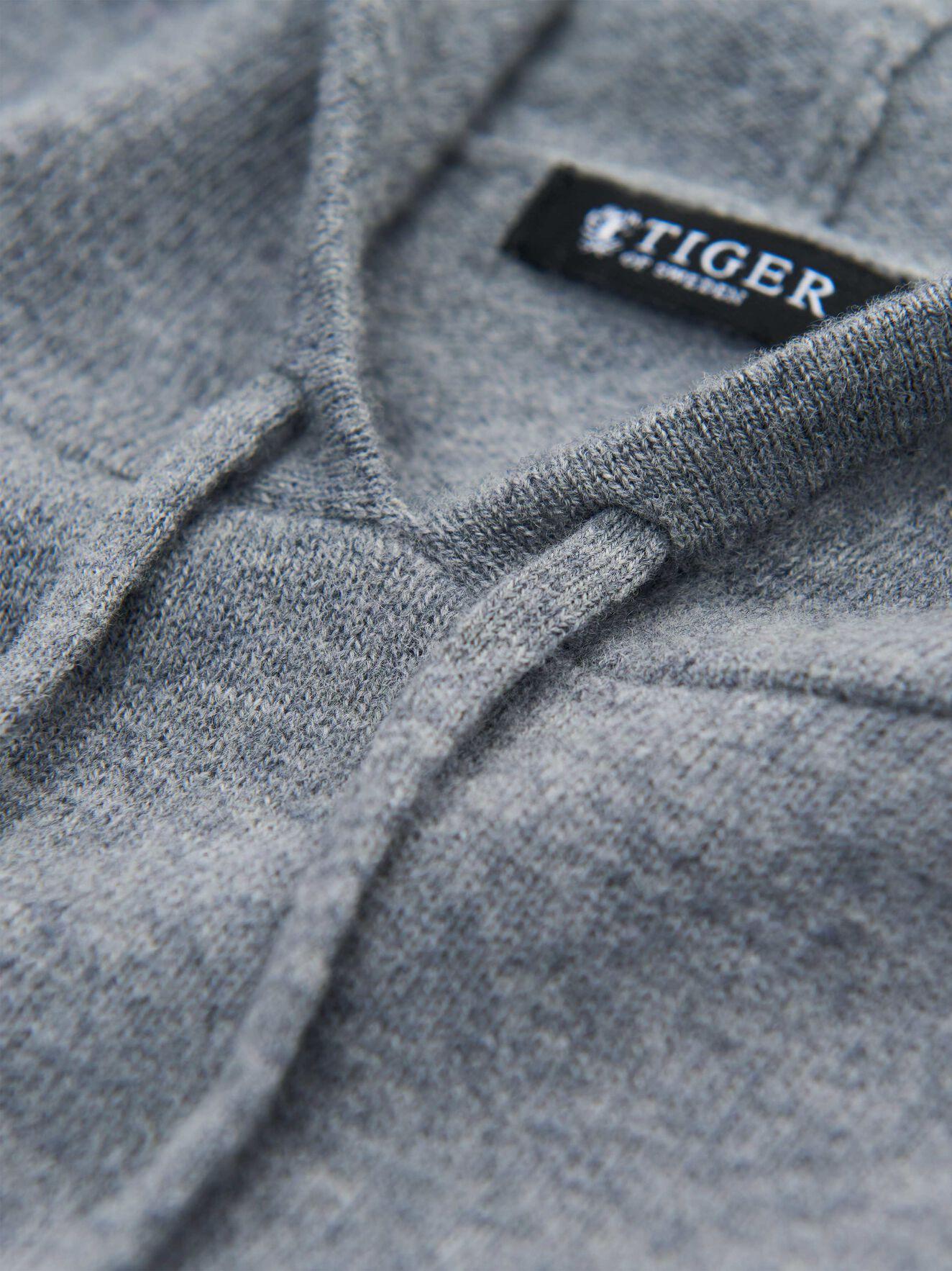 Nakkne Pullover in Light grey melange from Tiger of Sweden