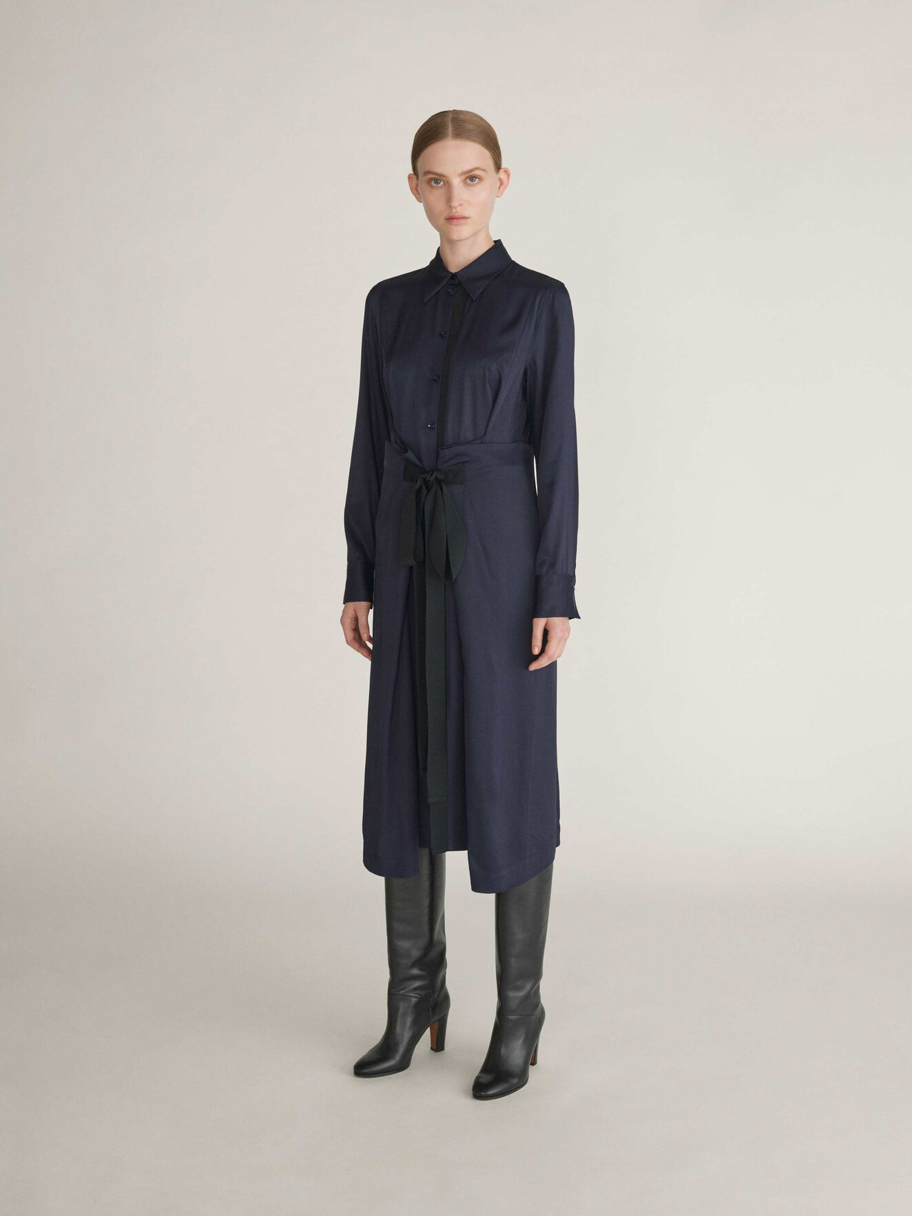 Sydberg Shirt-Dress in Dark Sea from Tiger of Sweden