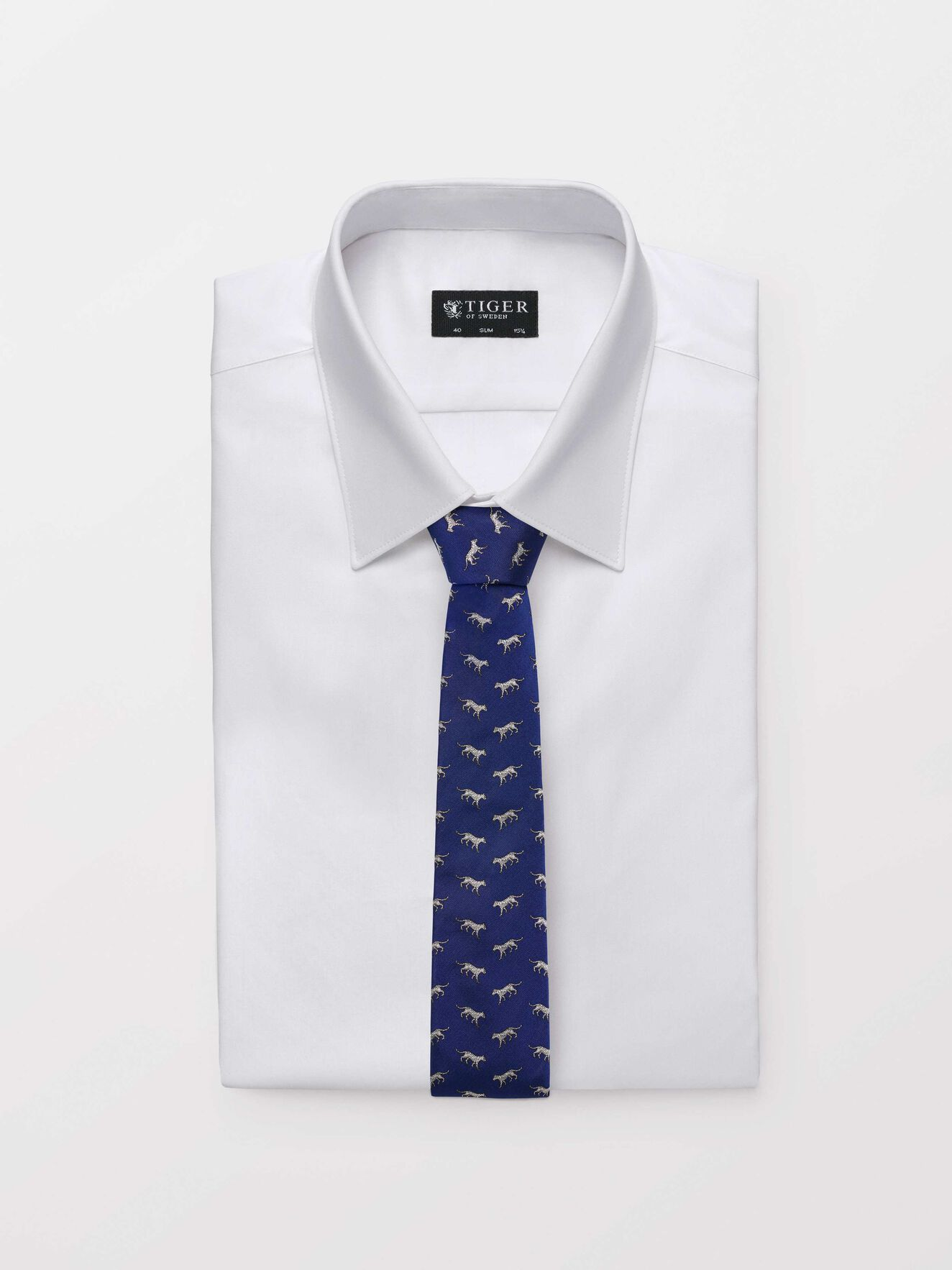 Trigon Tie in Deep Ocean Blue from Tiger of Sweden