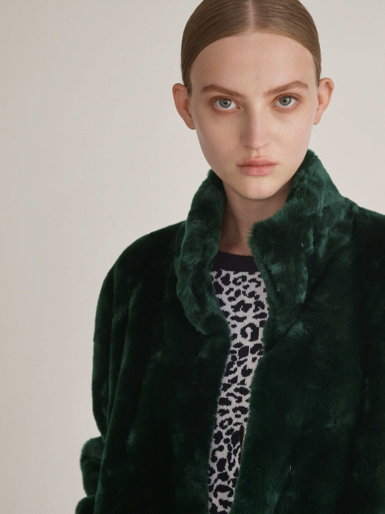Minimal Coat in Scarab Green from Tiger of Sweden