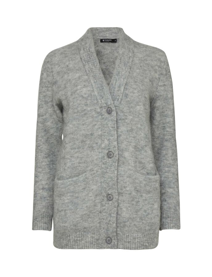 ABAS CARDIGAN in Light grey melange from Tiger of Sweden