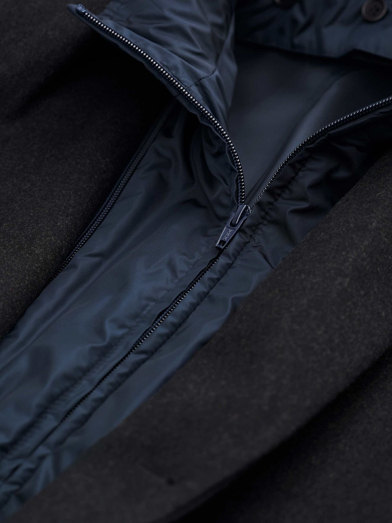 Cemper Coat in Charcoal from Tiger of Sweden