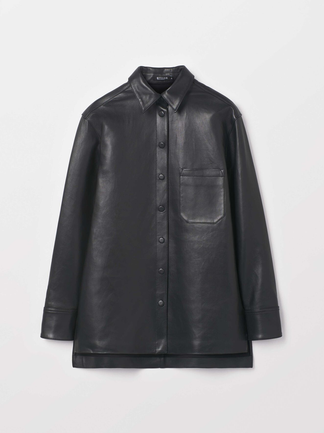 Ancer L Shirt in Midnight Black from Tiger of Sweden