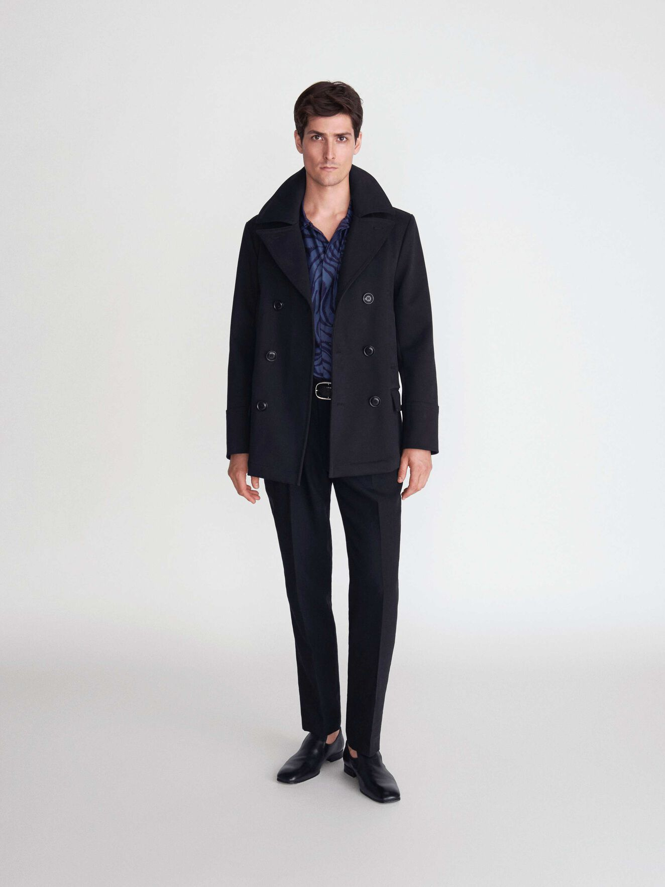 Odford Peacoat in Black from Tiger of Sweden