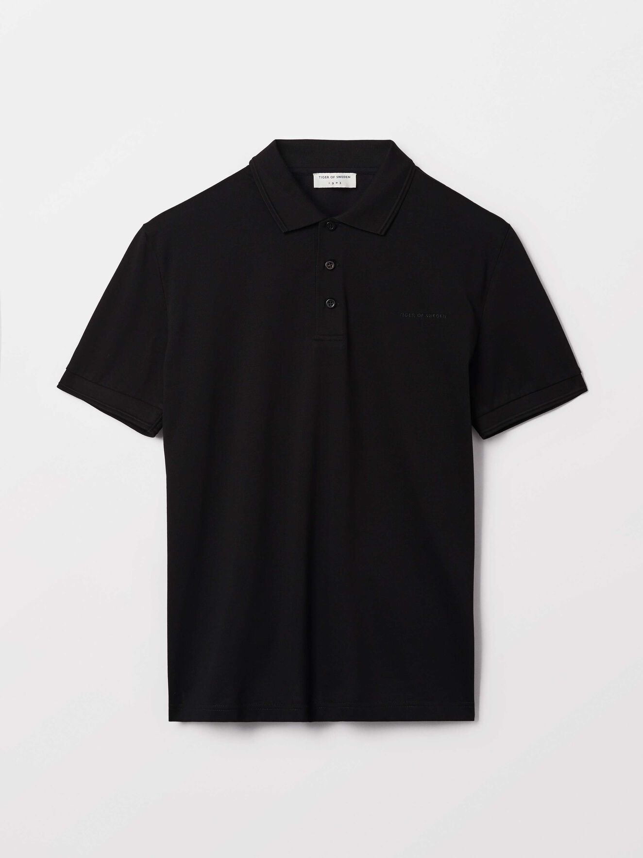 Darios Polo Shirt in Black from Tiger of Sweden