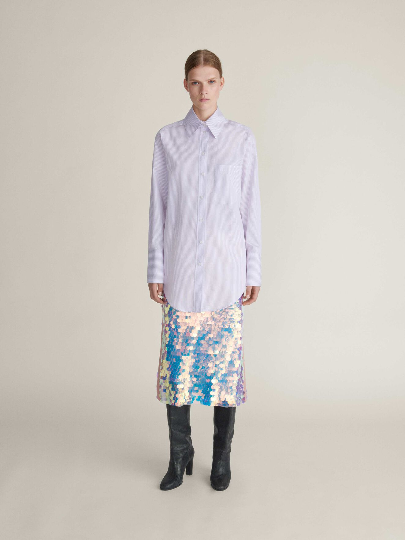 Meda Shirt in Smashing Lilac from Tiger of Sweden