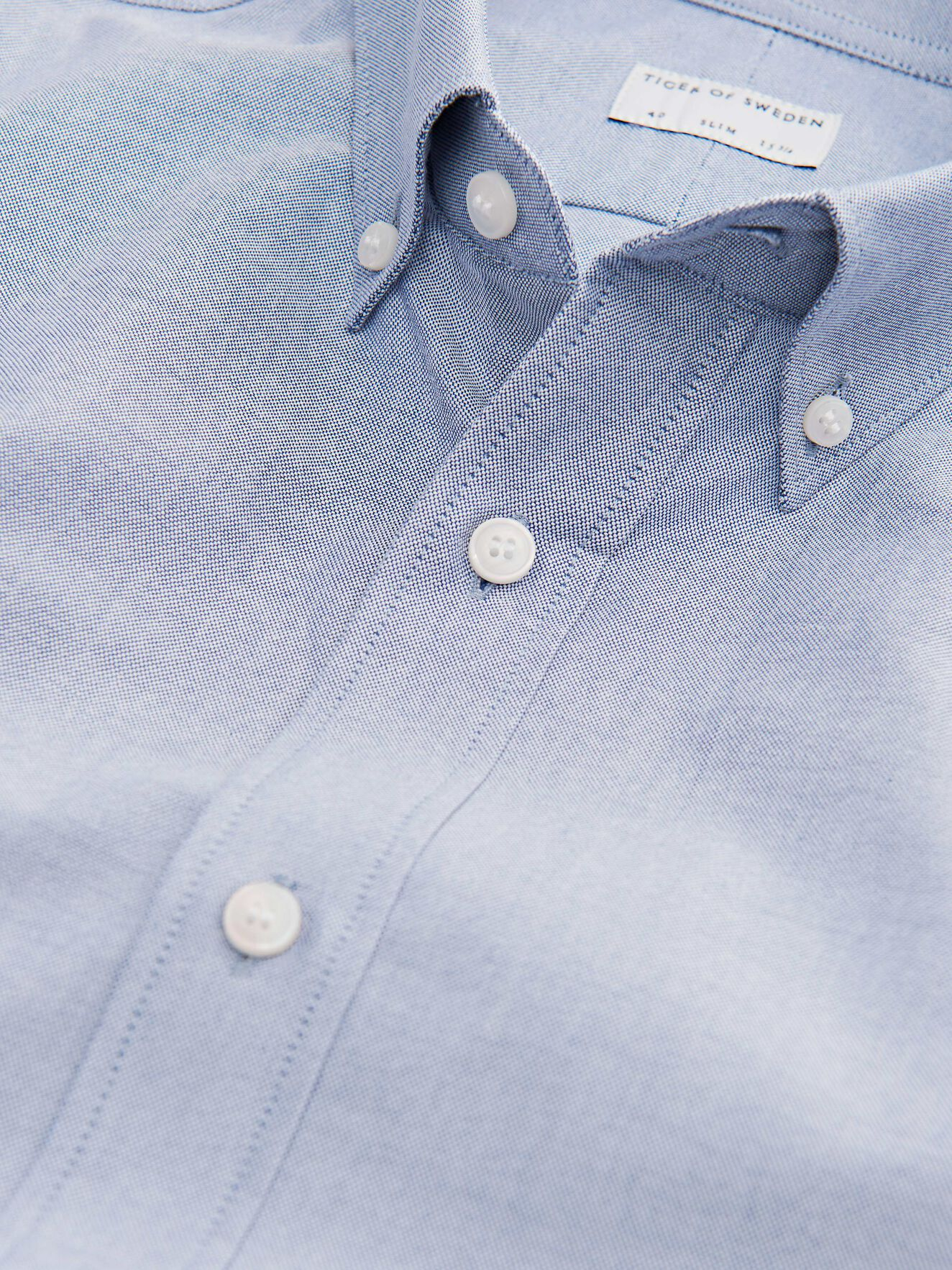Fenald Shirt in Grey Blue from Tiger of Sweden