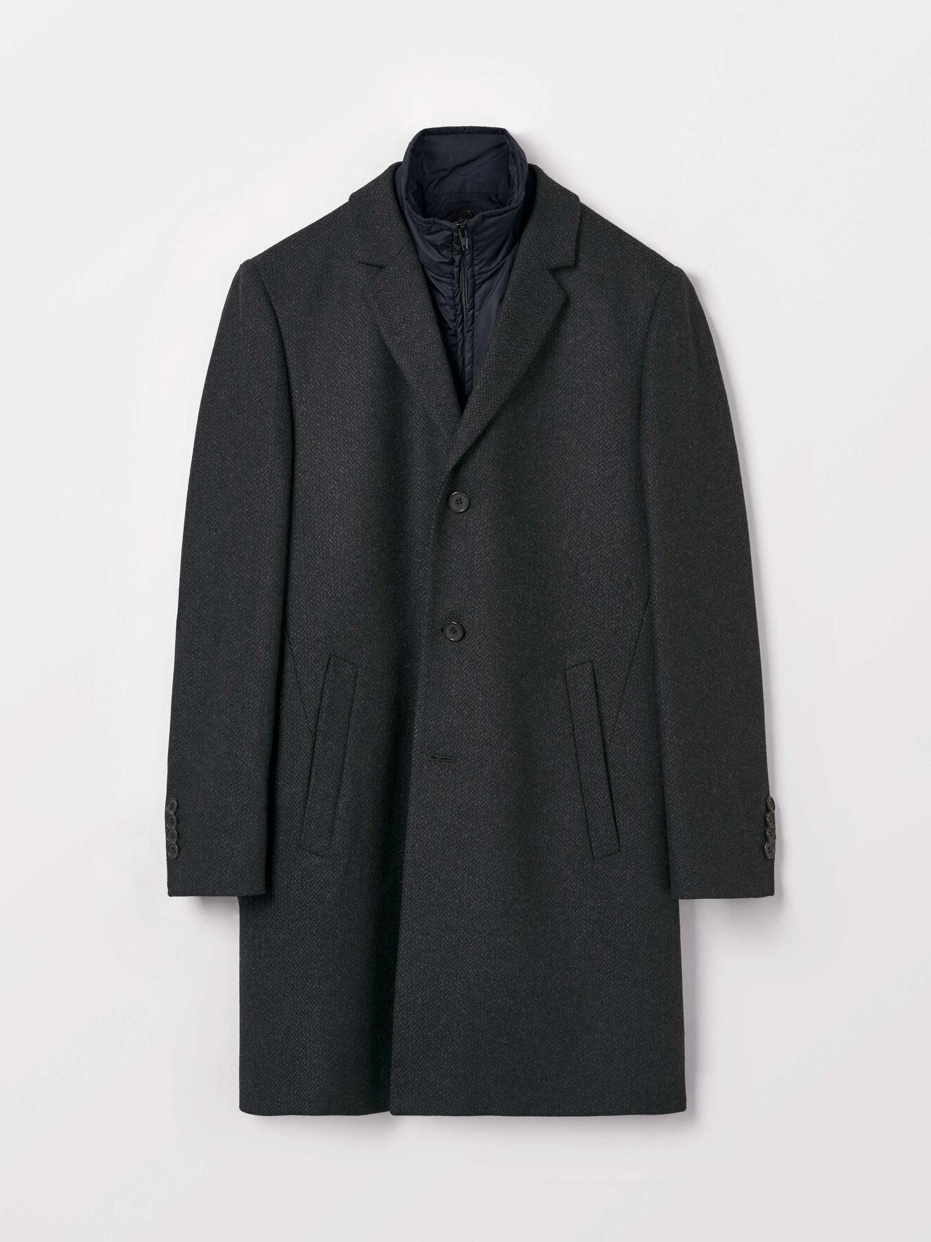 Cemper Coat  in Dark grey Mel from Tiger of Sweden