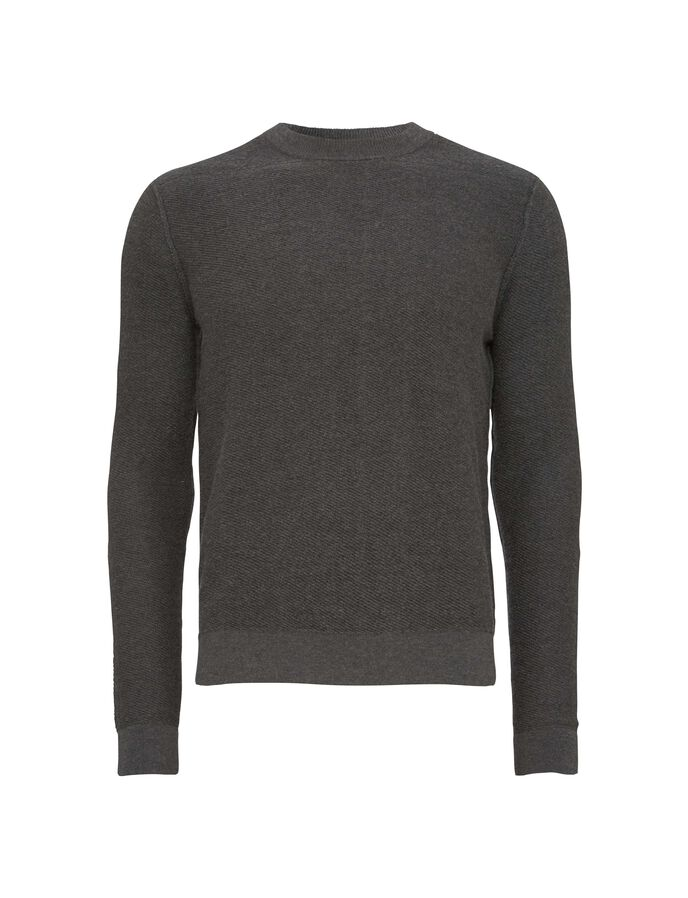 KAIKO PULLOVER in Dark grey Mel from Tiger of Sweden