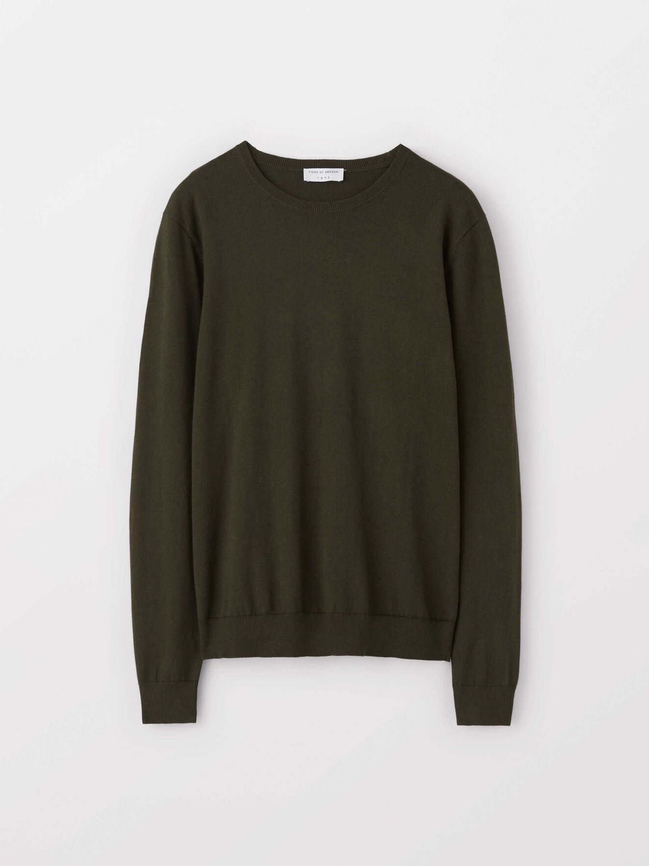 Matias Cs Pullover in Dark Olive from Tiger of Sweden