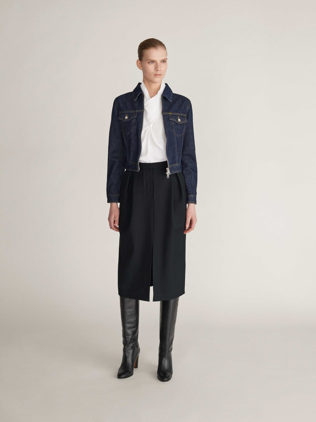 Laara Skirt in Midnight Black from Tiger of Sweden