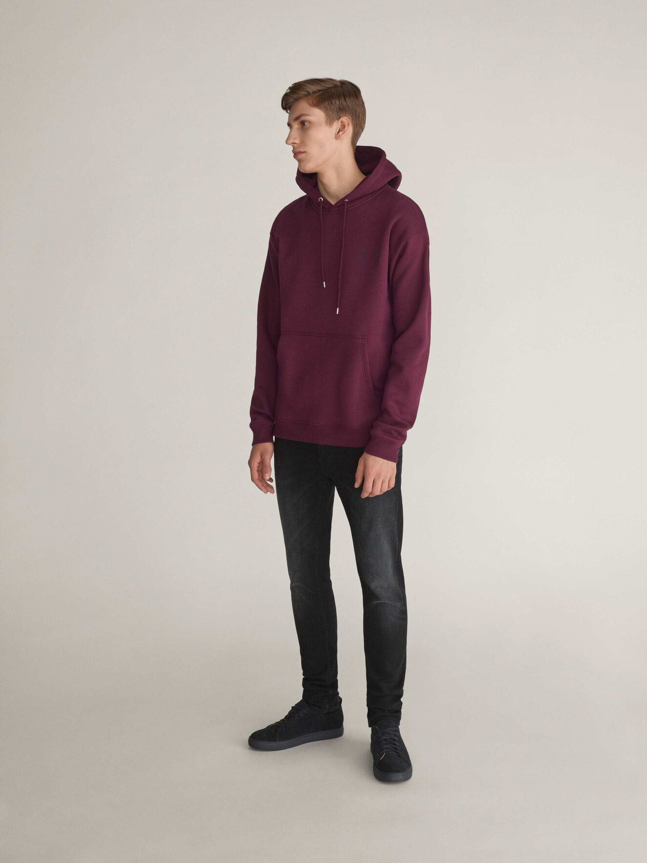 Plies Hoodie in Deep Ruby from Tiger of Sweden