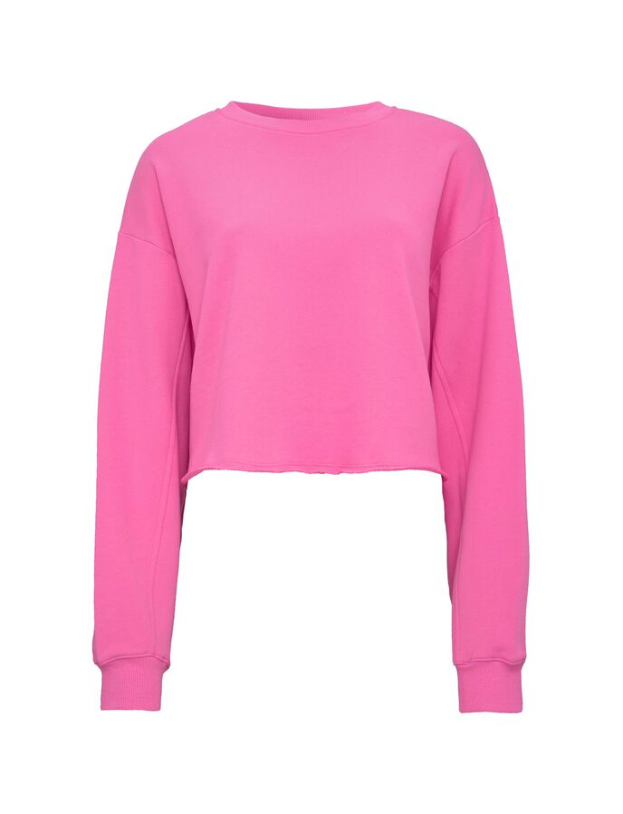 BIG CROP SWEATSHIRT in Carmine Rose from Tiger of Sweden