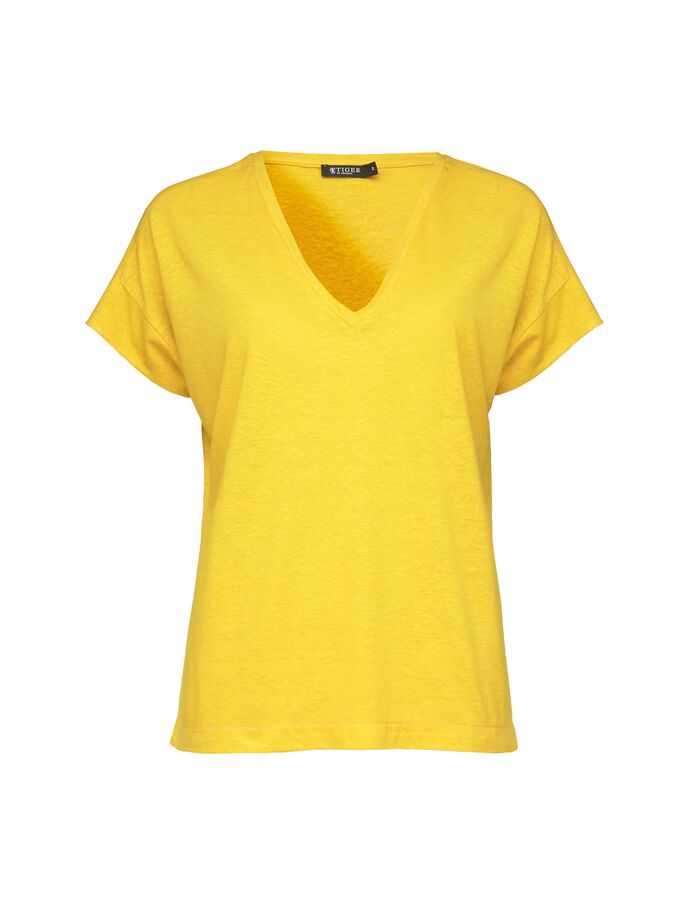 TARLI T-SHIRT in Yellow from Tiger of Sweden