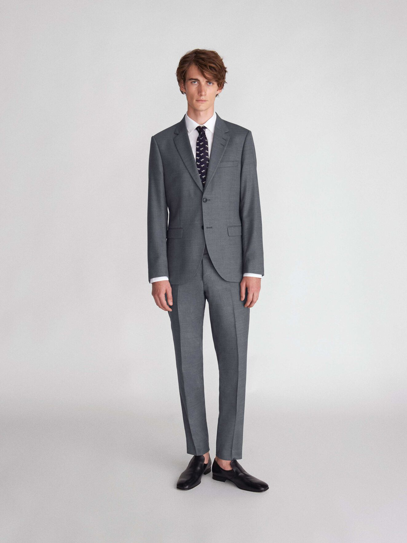 Tordon Trousers in Light grey melange from Tiger of Sweden