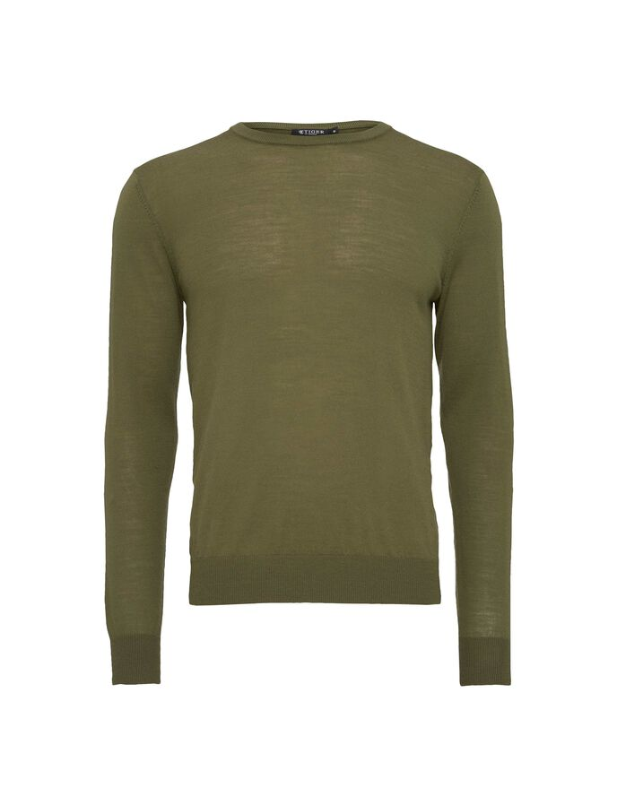 MATIAS PULLOVER in Military from Tiger of Sweden