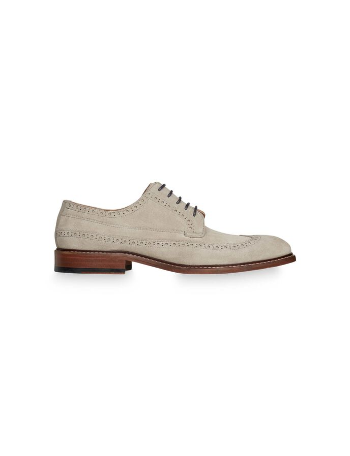 LUNDER BROGUE-SCHUH in Pale grey from Tiger of Sweden