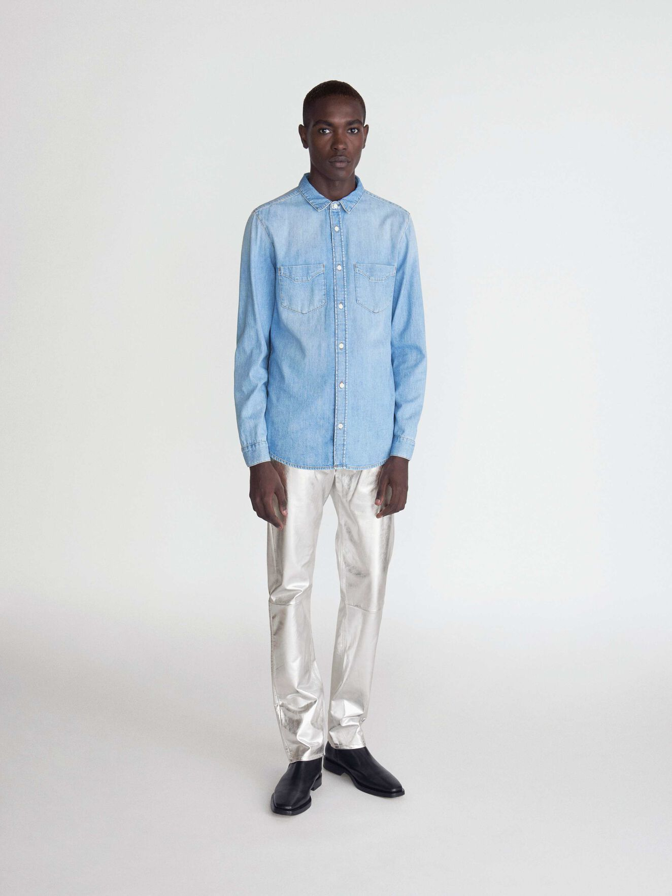Sid Shirt in Medium Blue from Tiger of Sweden