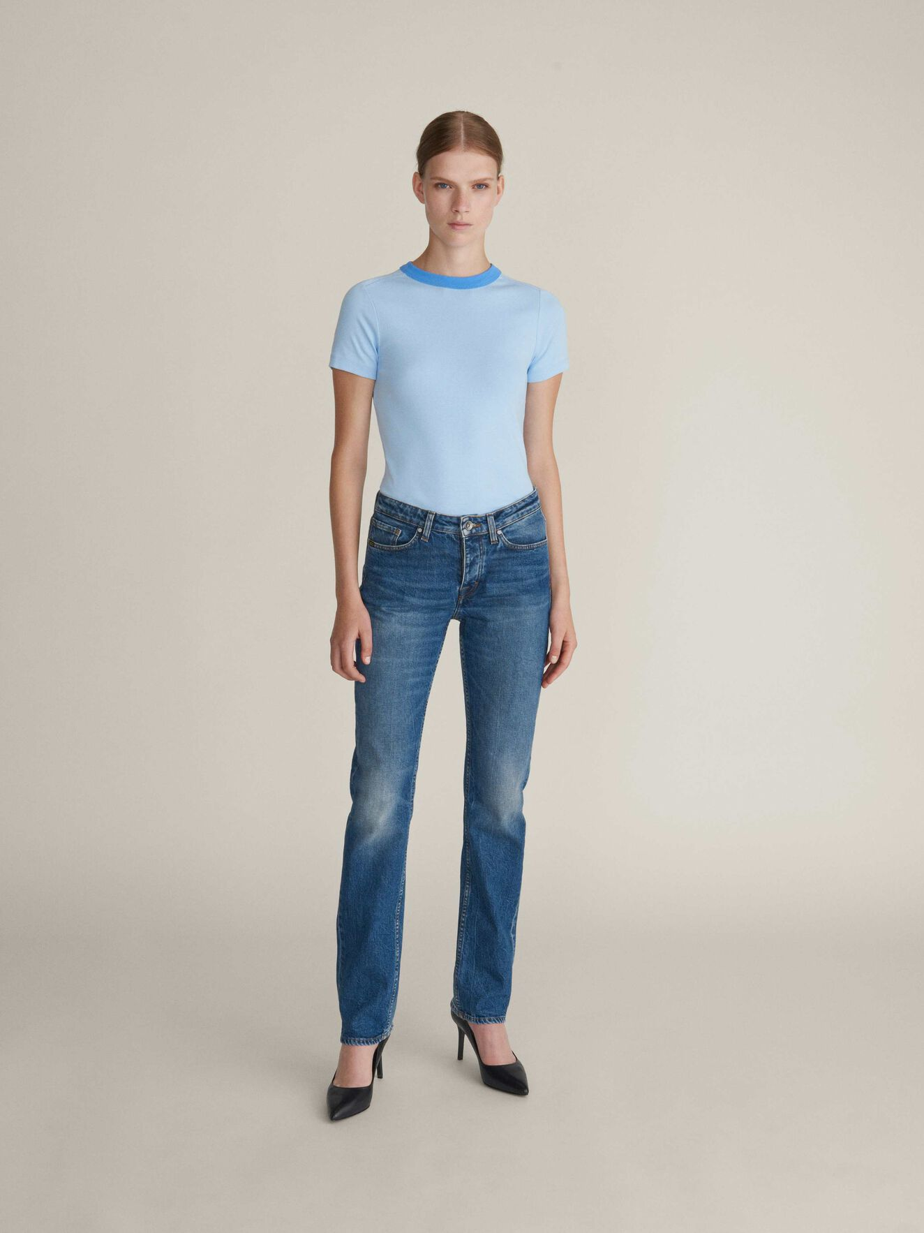 Ellvina T-Shirt in Chambray Blue from Tiger of Sweden