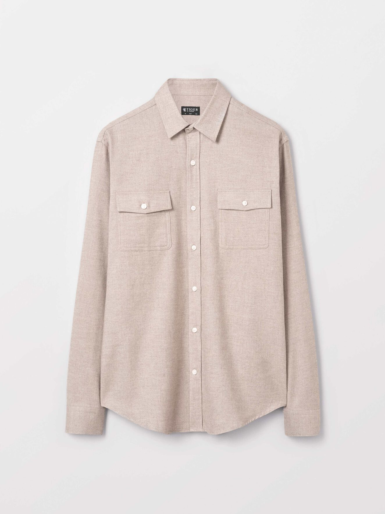 Frits Shirt in Macchiato from Tiger of Sweden