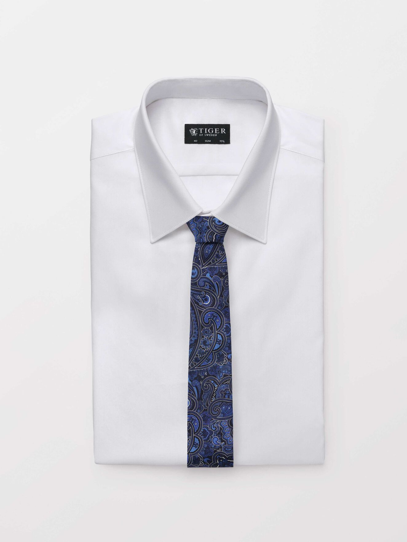 Trigon Tie in Light Ink from Tiger of Sweden