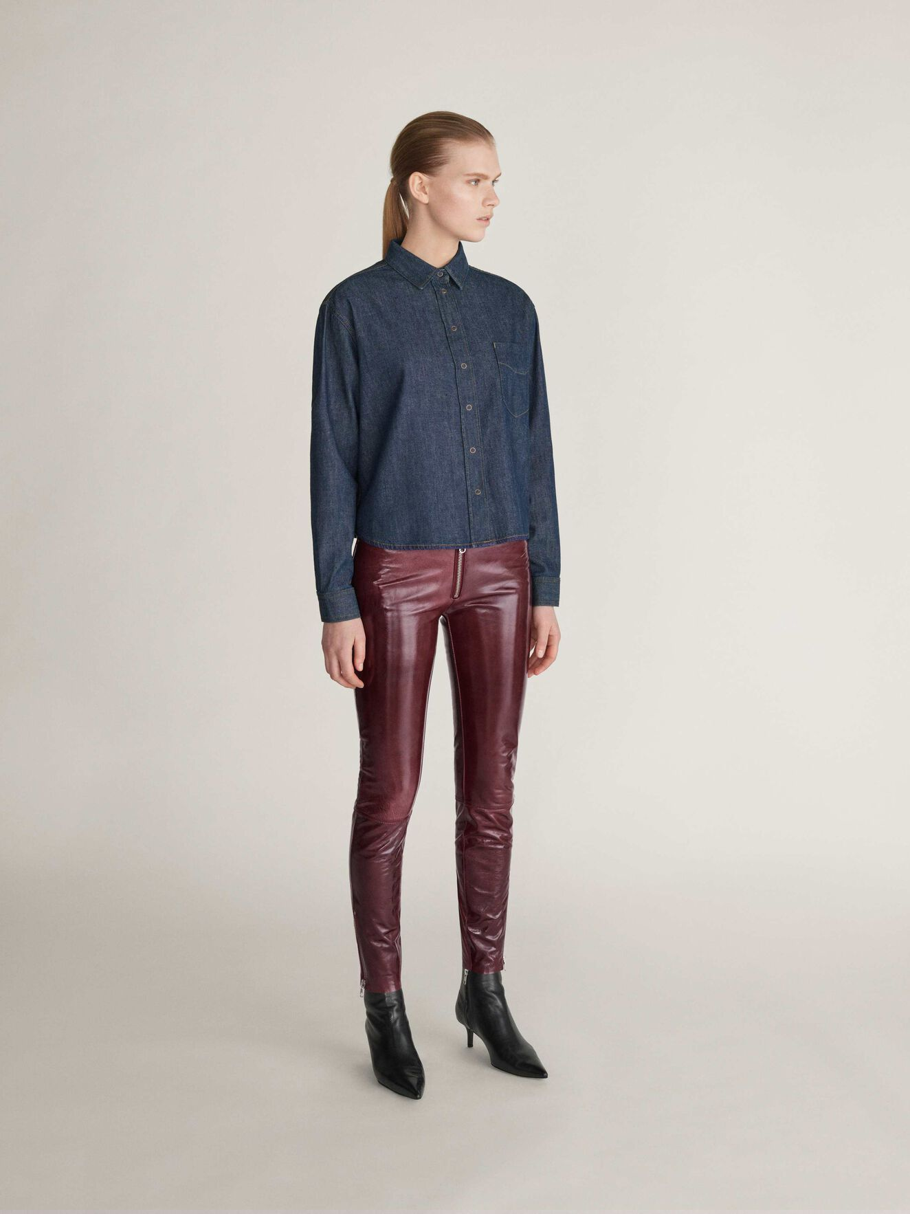 Zandra Trousers  in Cabernet from Tiger of Sweden