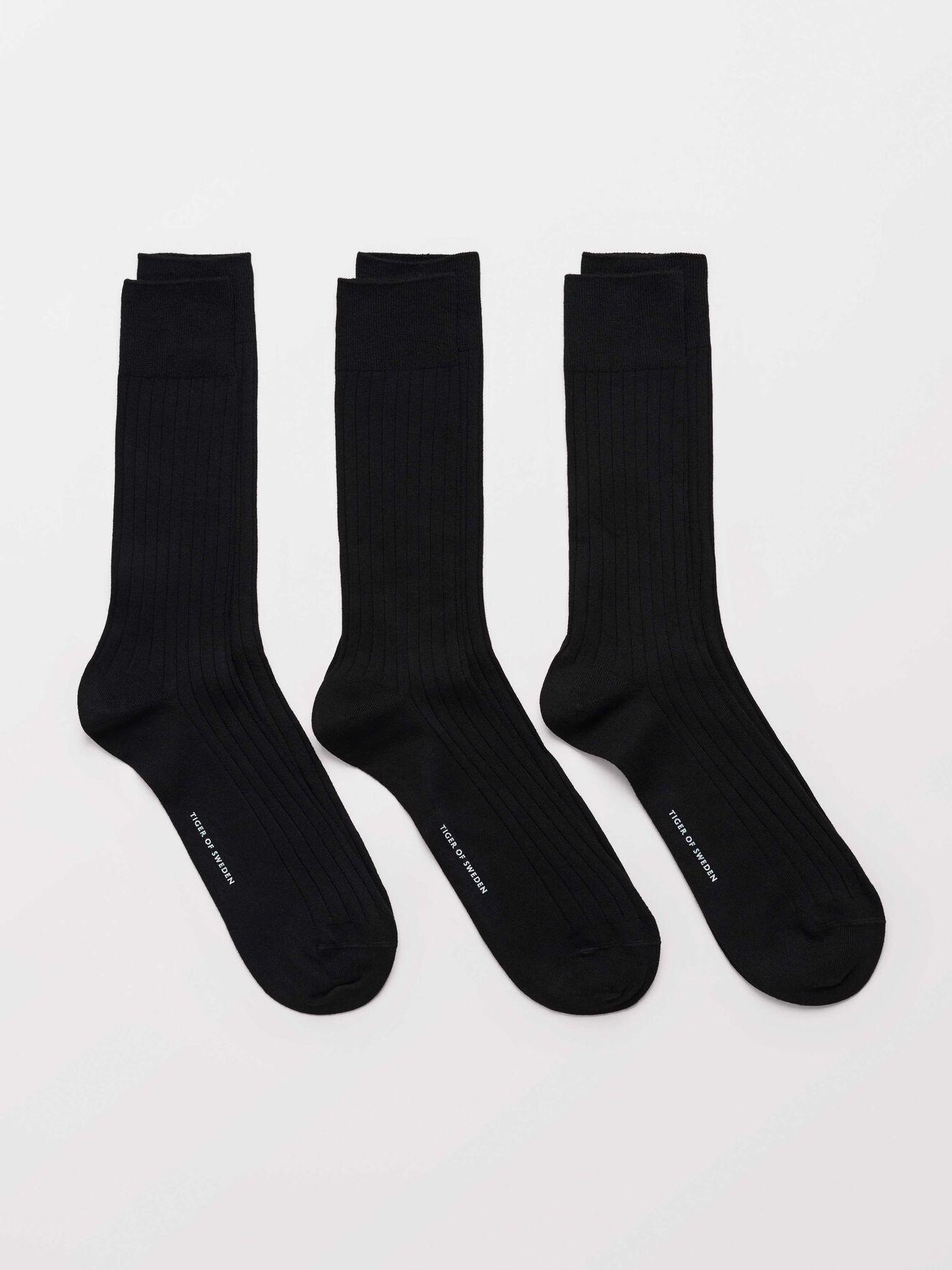 Reigate R3 Socks in Black from Tiger of Sweden