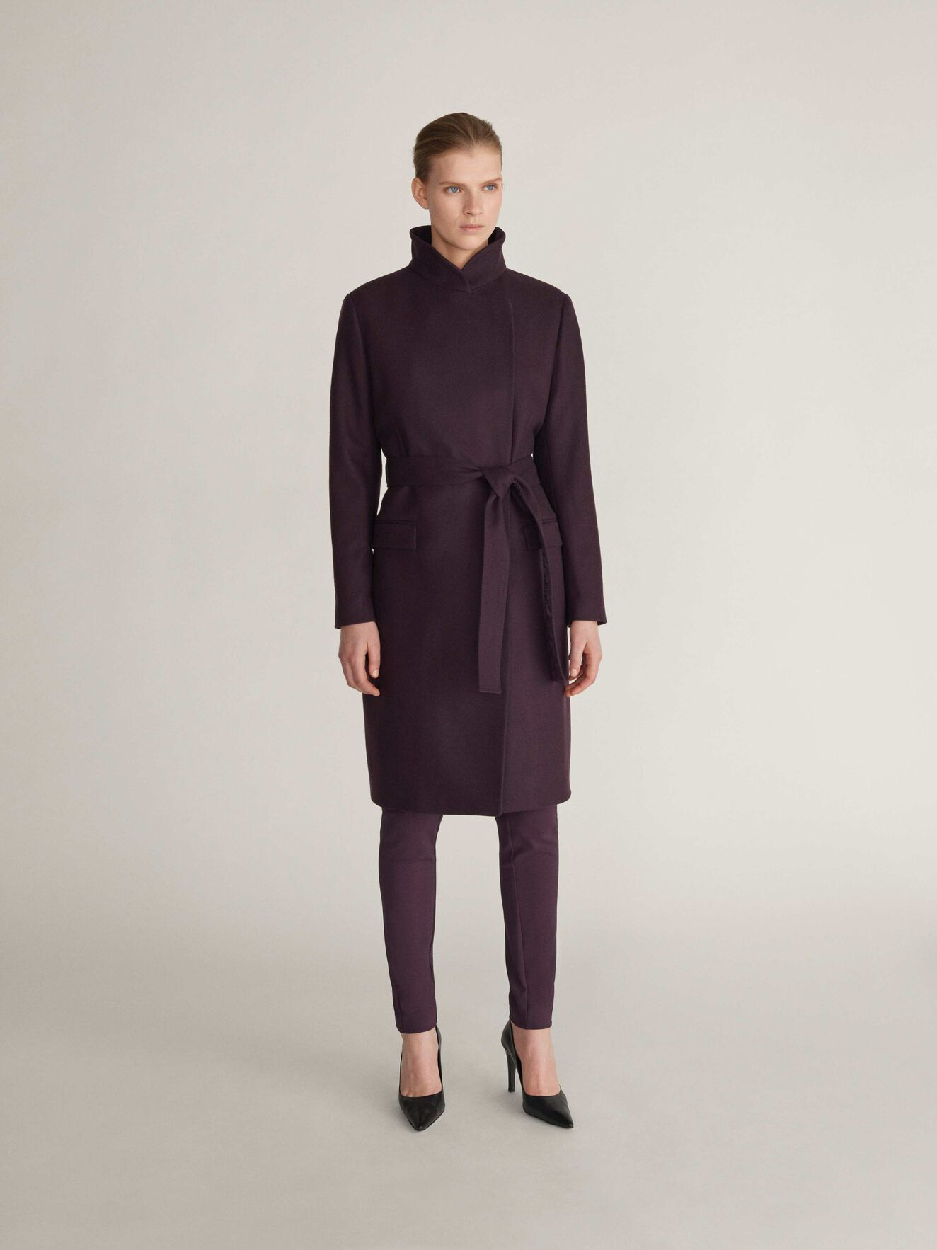 Knopp Coat in Juicy Plum from Tiger of Sweden