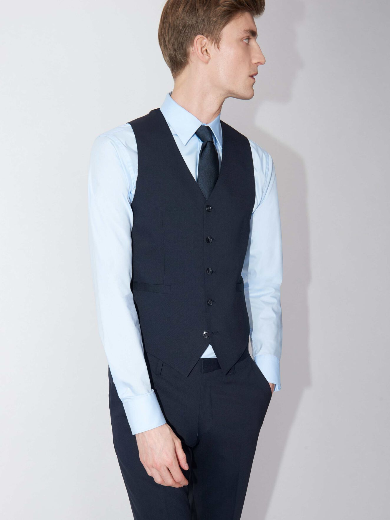 Litt Waistcoat in Sky Captain from Tiger of Sweden